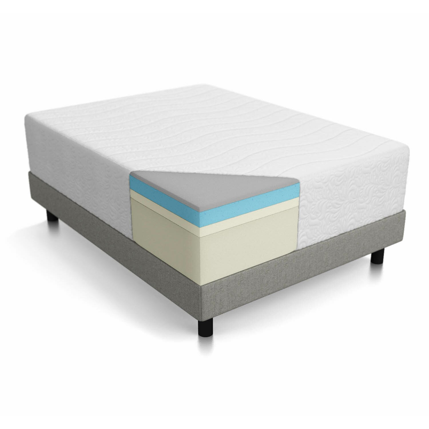 Lucid 16 Gel Memory Foam Mattress Reviews Wayfair