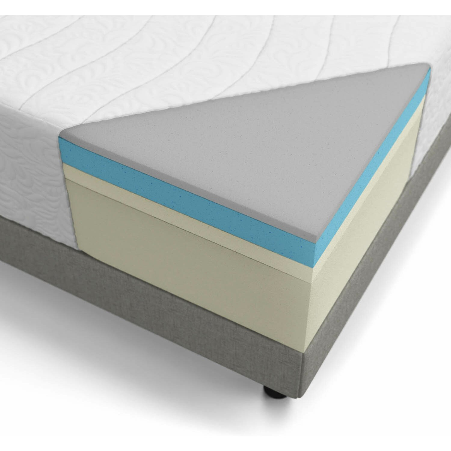 "Lucid 16"" Gel Memory Foam Mattress & Reviews"