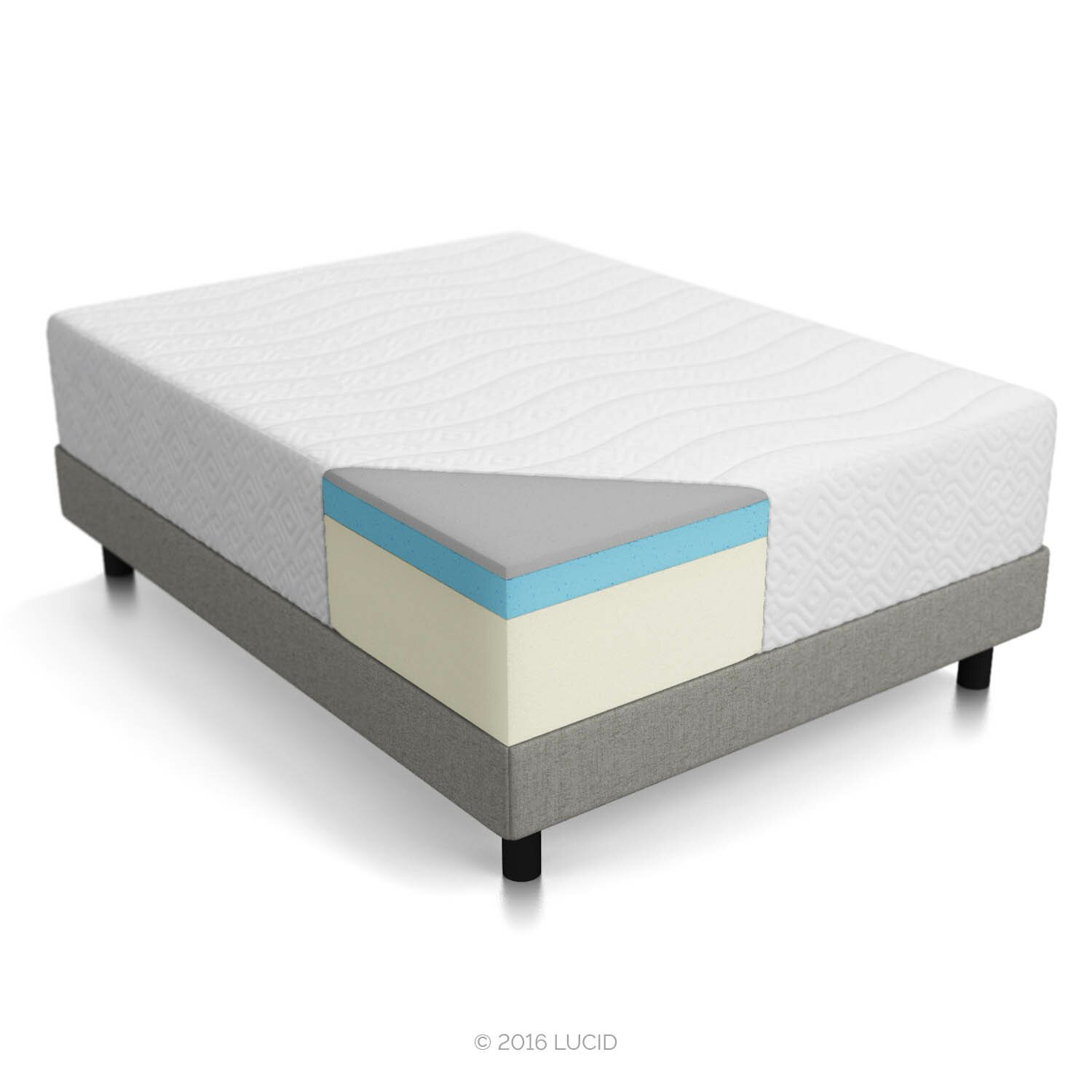 Lucid 14 Memory Foam Mattress Reviews Wayfair