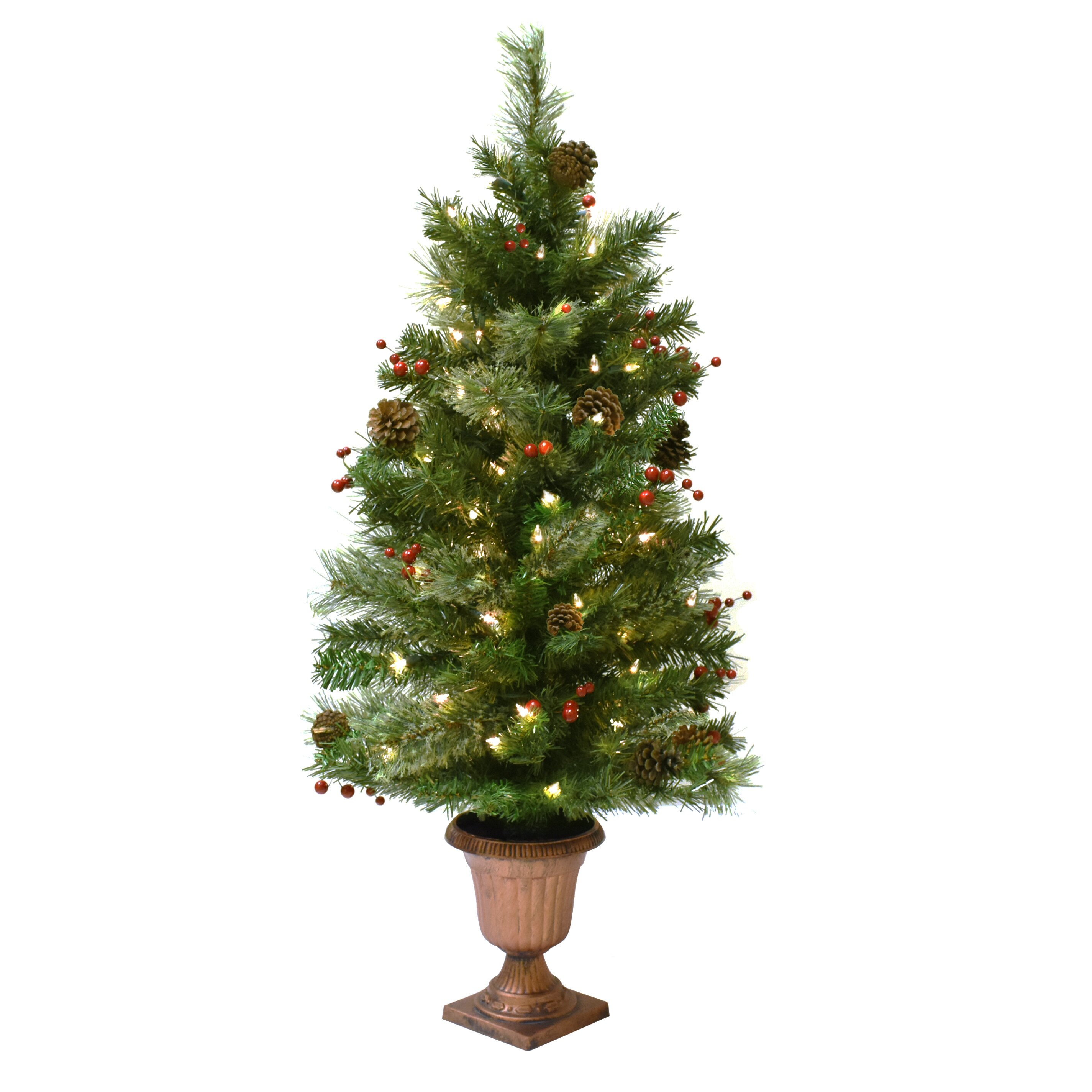 Astella green artificial christmas tree with lights