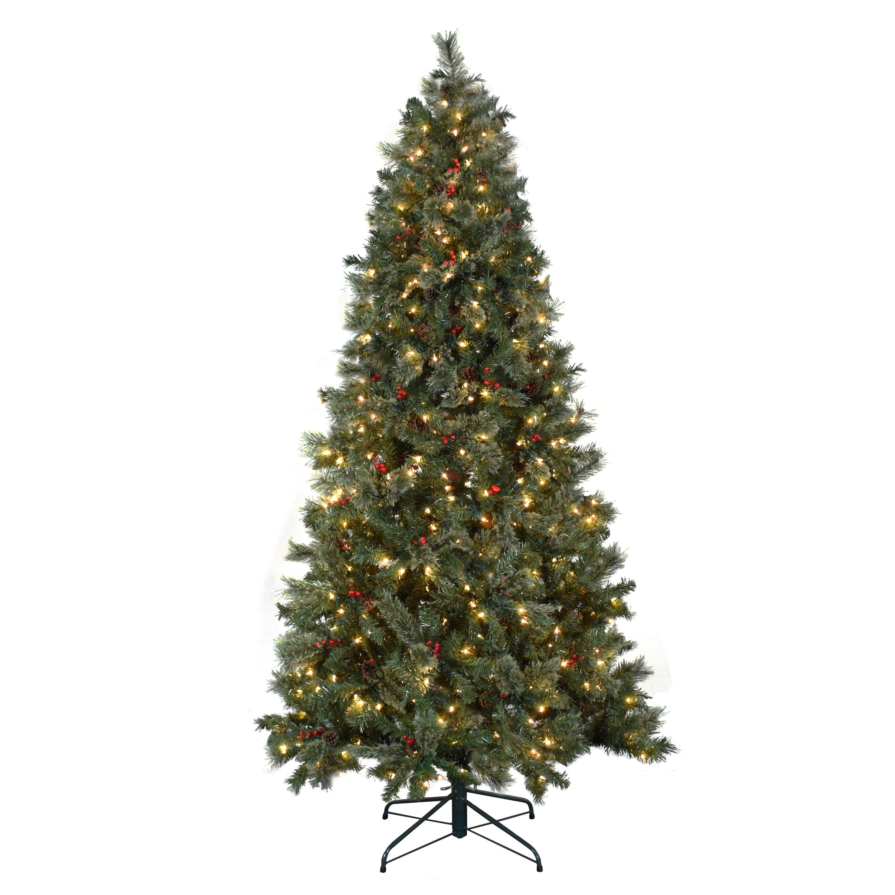 Artificial Christmas Trees: Astella 7.5' Green Artificial Christmas Tree With 500