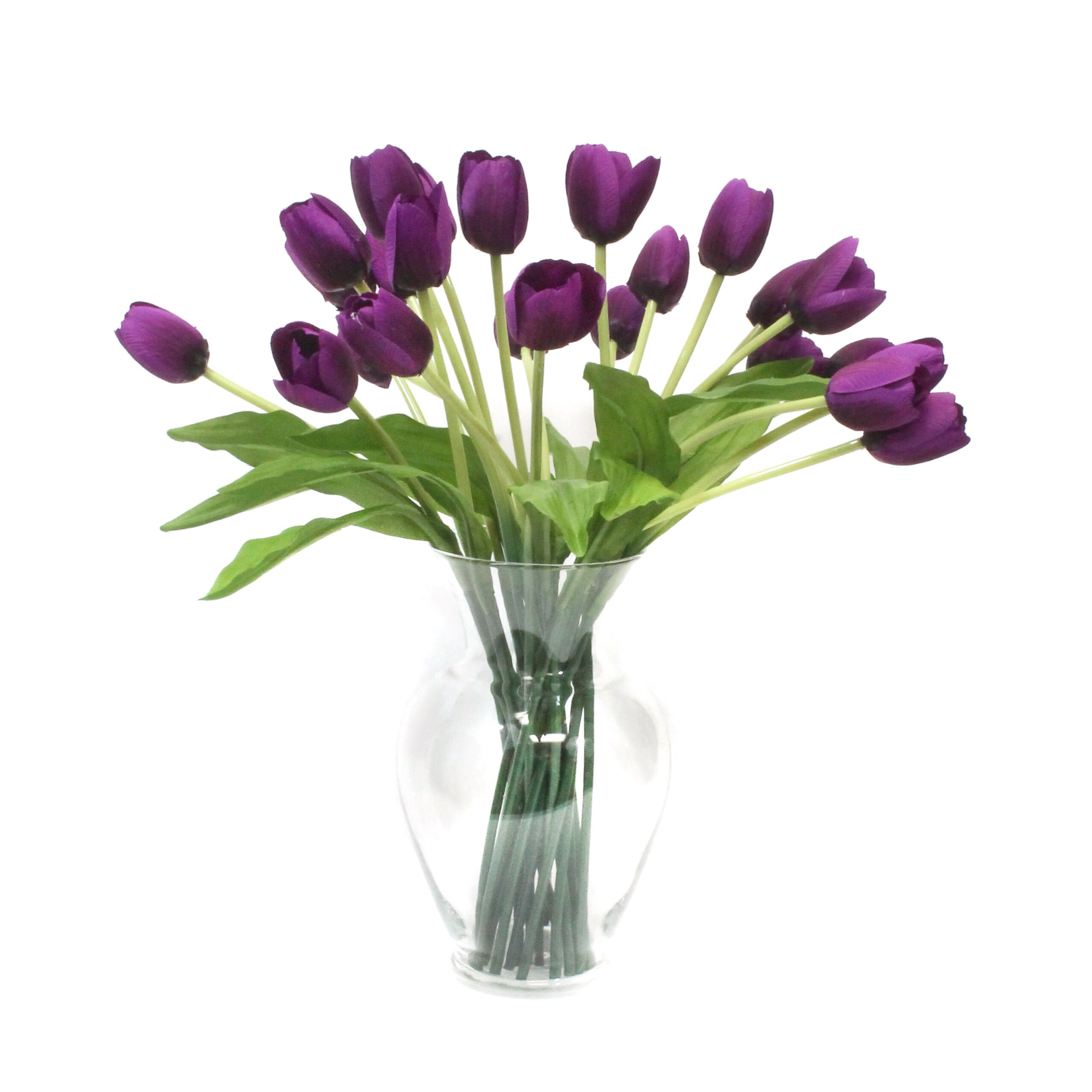 Dalmarko Designs Tulips In Glass Vase Amp Reviews Wayfair