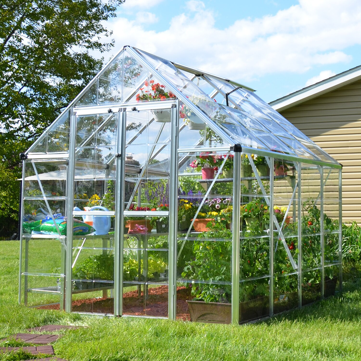 how to clean a polycarbonate greenhouse