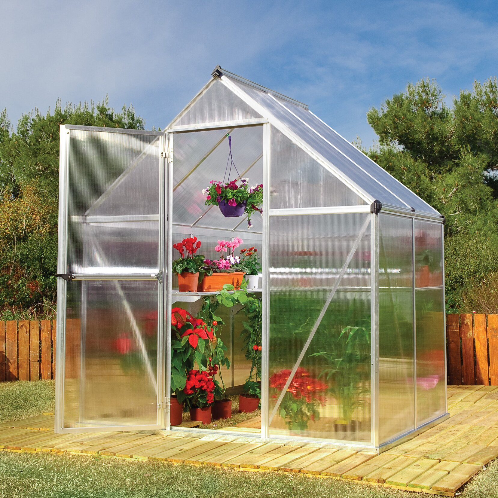 Portable Greenhouse Kits Lowe S : Palram nature twin ft w d greenhouse reviews