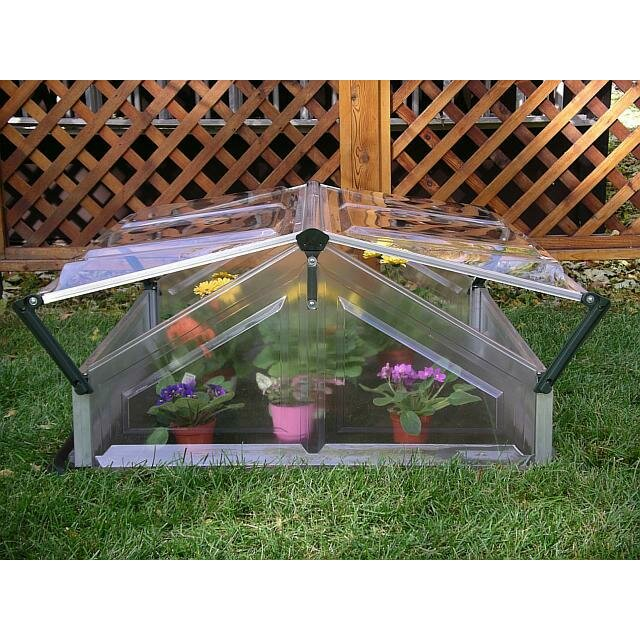 Palram 3.5 Ft. W X 3.5 Ft. D Cold Frame Greenhouse