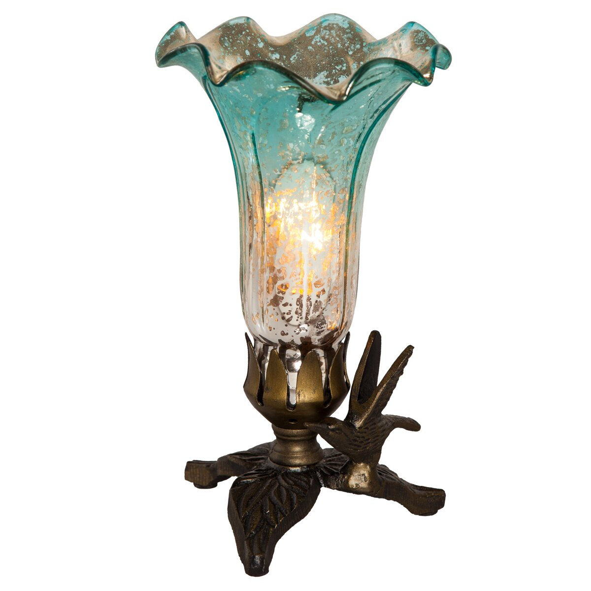 Novelty Lamp Base : River of Goods Hummingbird Base Lily 8