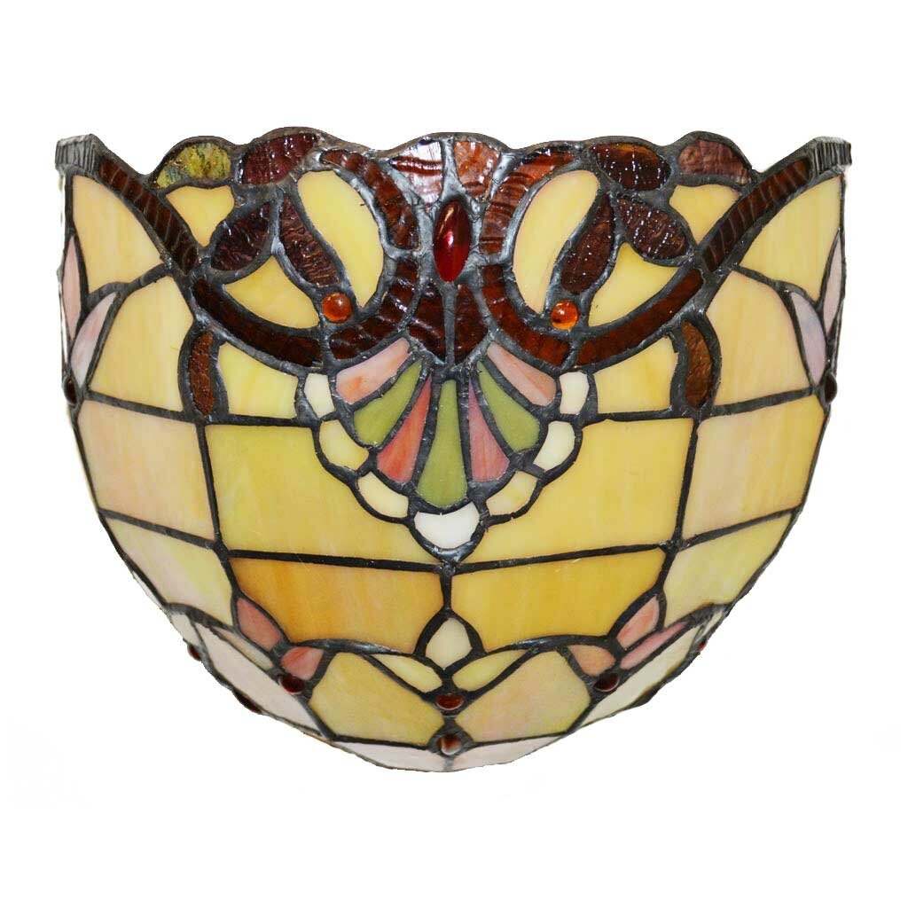 Stained Glass Wireless Wall Sconces : River of Goods Allistar Tiffany Style Stained Glass Wireless LED Wall Sconce & Reviews Wayfair