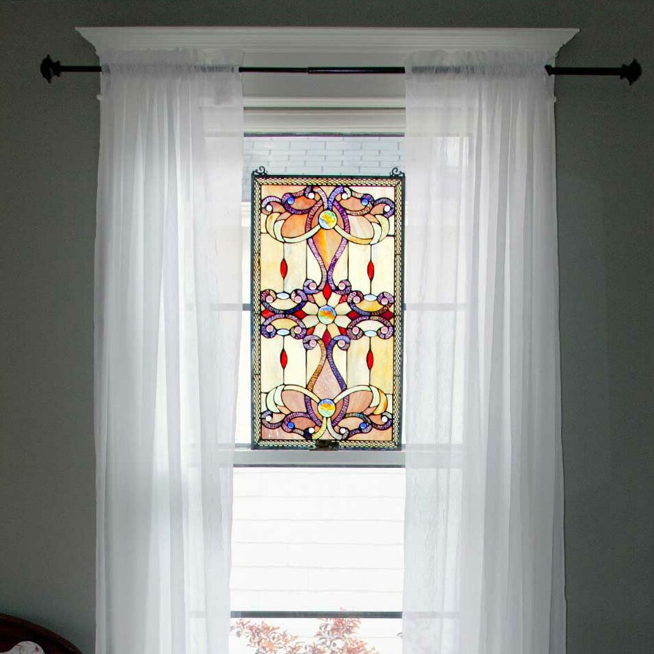 River of goods brandi 39 s tiffany style stained glass window for Window panel design