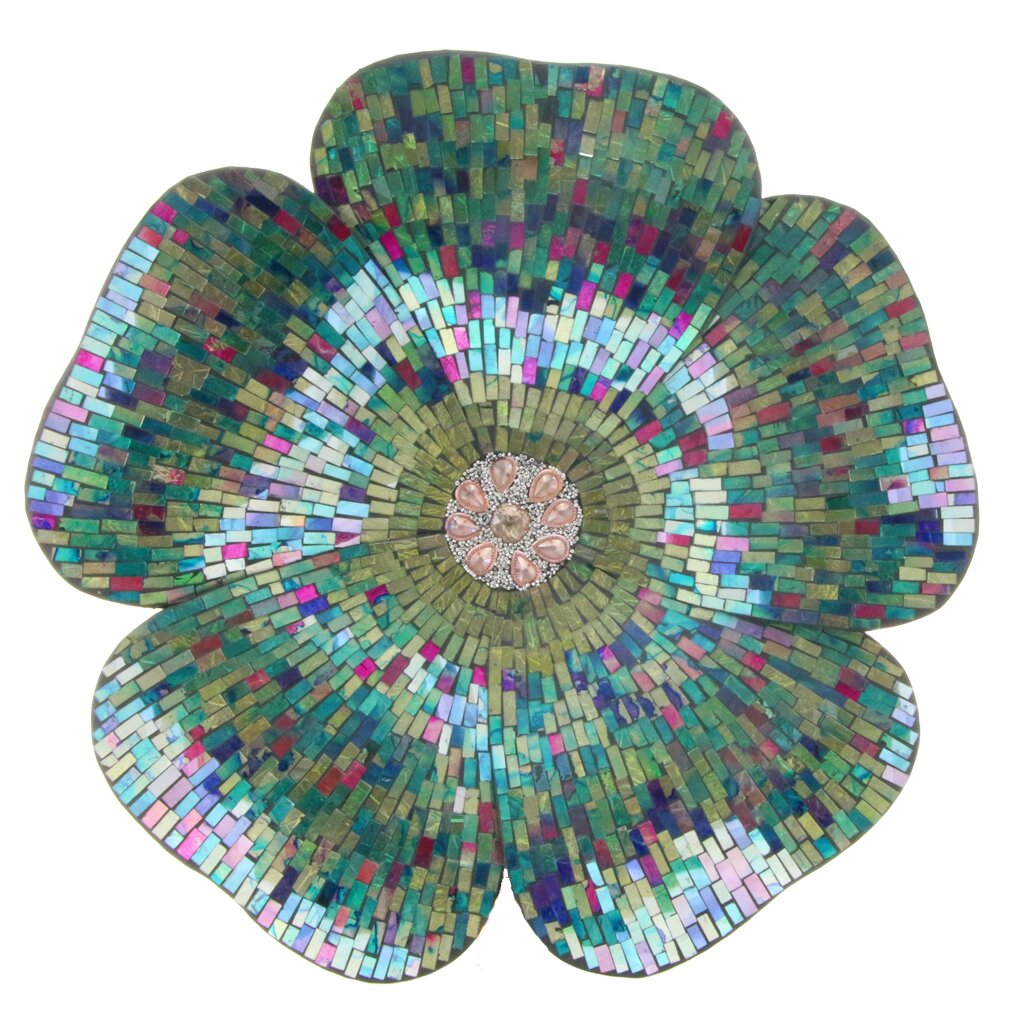 river of goods mosaic glass flower wall d cor reviews. Black Bedroom Furniture Sets. Home Design Ideas