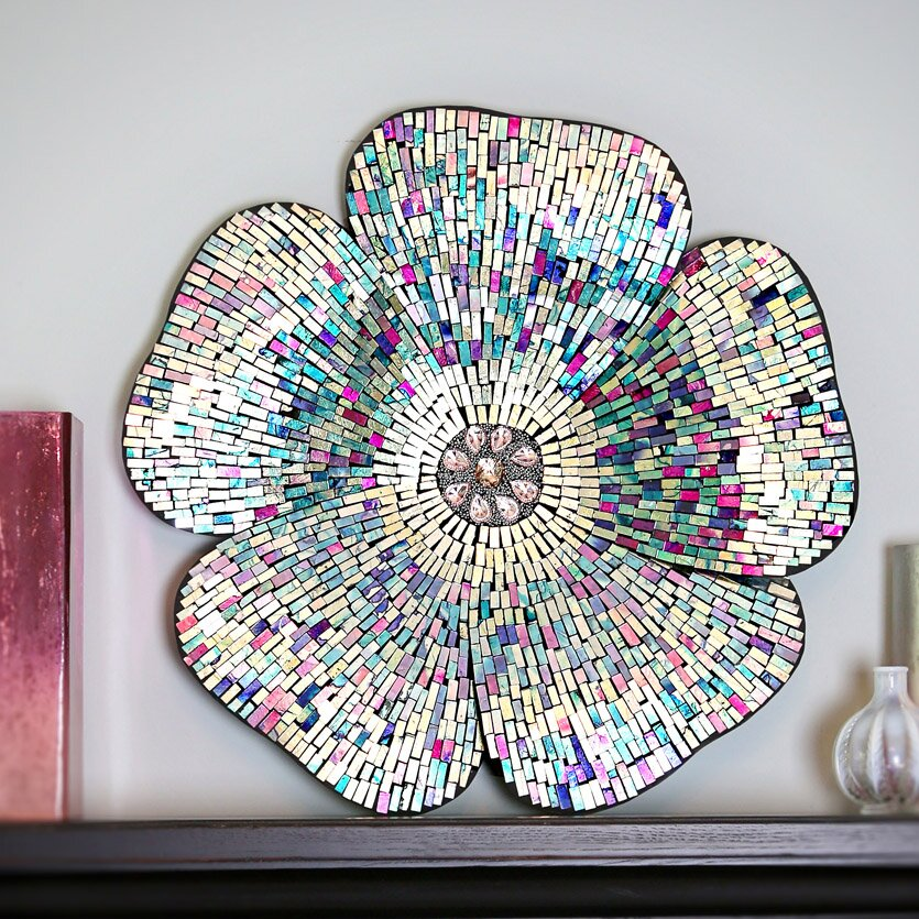 Glass Star Wall Decor : River of goods mosaic glass flower wall d?cor reviews