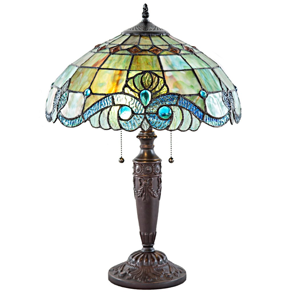 river of goods stained glass table lamp reviews. Black Bedroom Furniture Sets. Home Design Ideas
