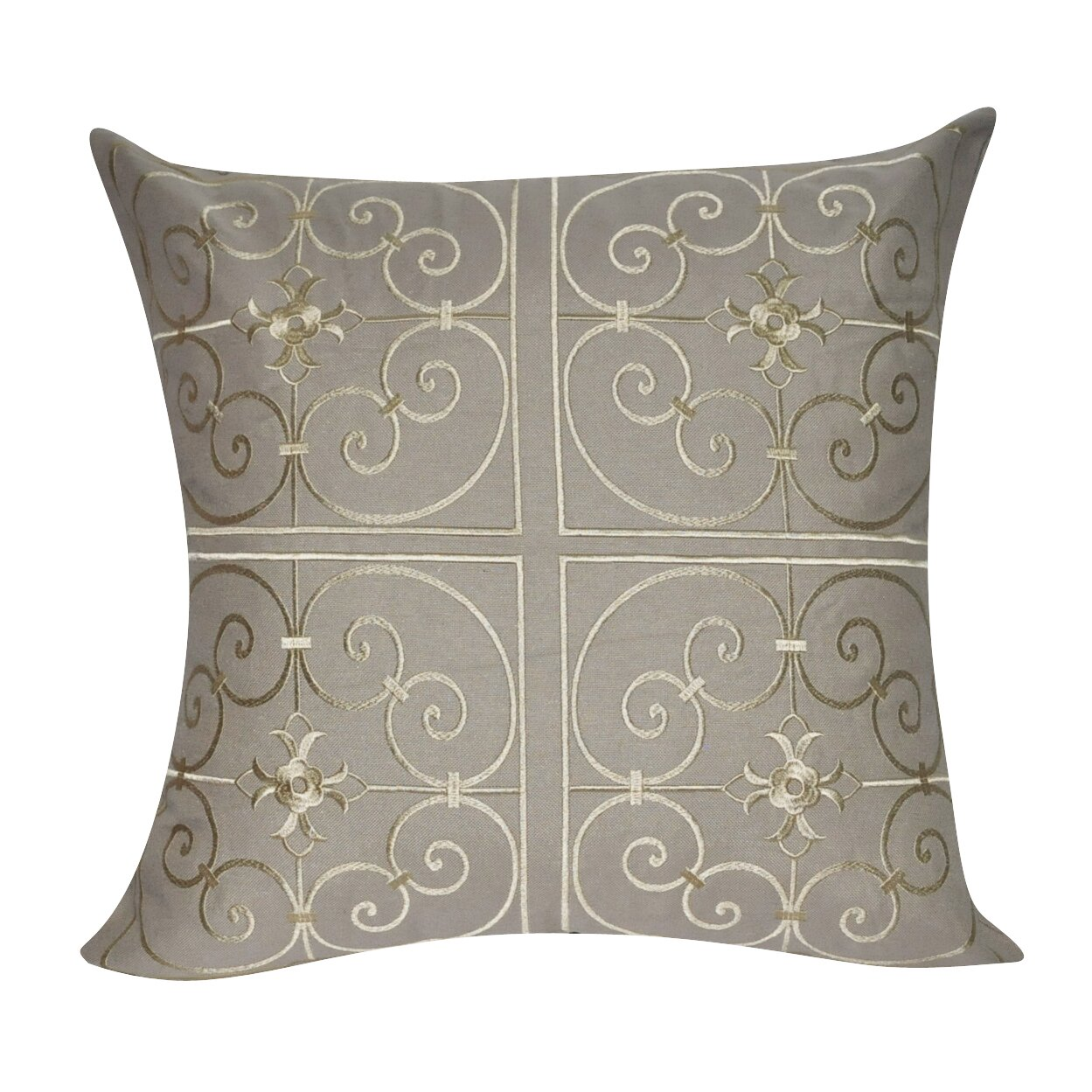 Decorative Pillow Wayfair : Loom and Mill Floral Embroidered Decorative Throw Pillow & Reviews Wayfair