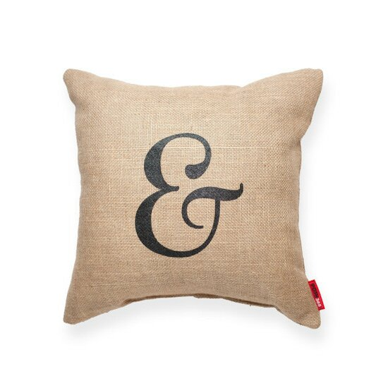 Jute Throw Pillow : Posh365 Expressive Ampersand Burlap Jute Throw Pillow & Reviews Wayfair