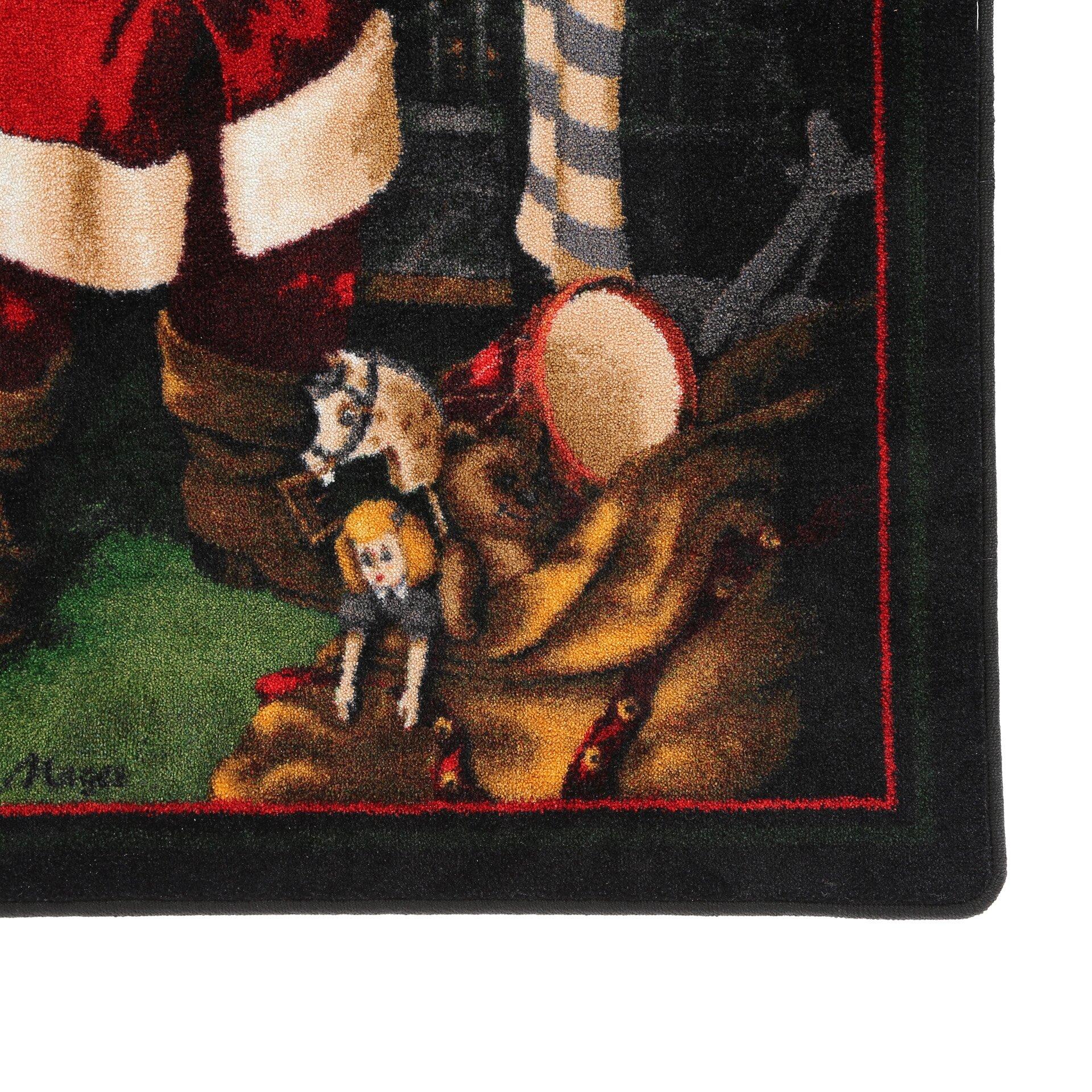 Milliken Winter Seasonal Santa's Visit Christmas Area Rug