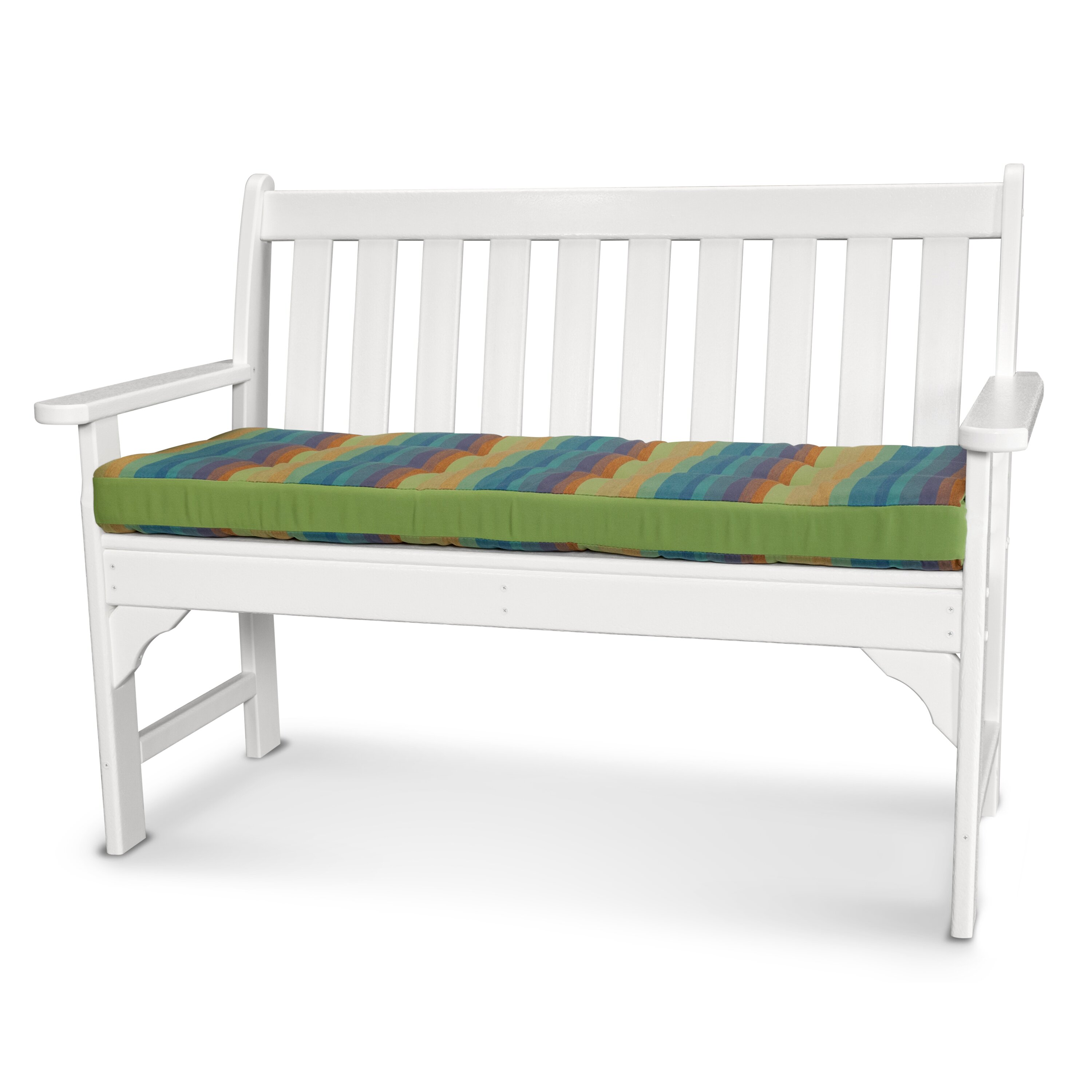 Ateeva Luxe Outdoor Sunbrella Bench Cushion Reviews Wayfair