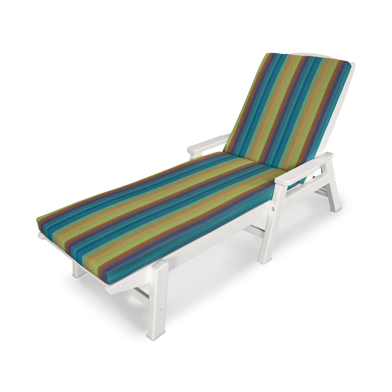 Ateeva outdoor sunbrella chaise lounge cushion reviews for Chaise lounge cushion outdoor