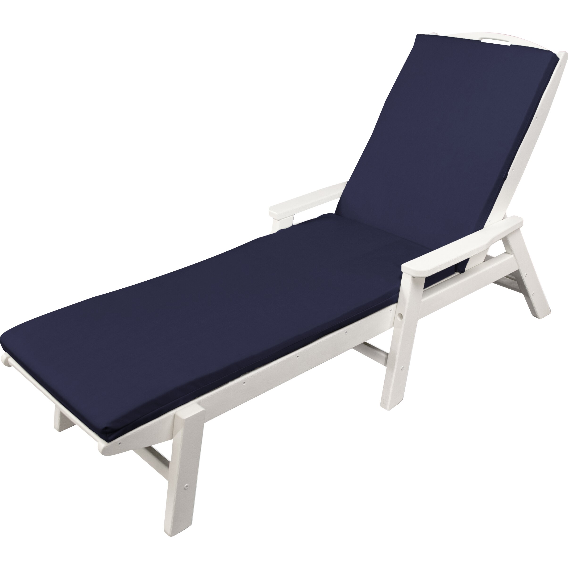 Ateeva outdoor sunbrella chaise lounge cushion reviews for Chaise longue cushion