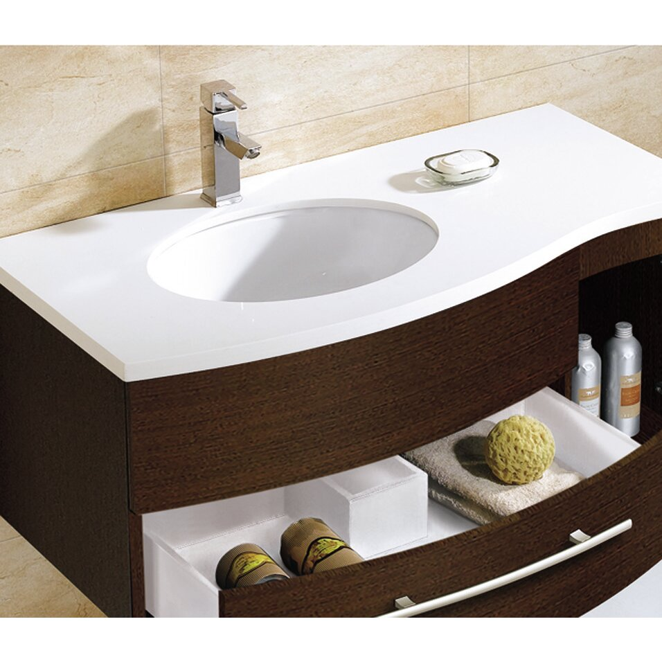 43 Bathroom Vanity #26: Adornus Aden 43 Quot Single Bathroom Vanity Set With Mirror Amp Reviews