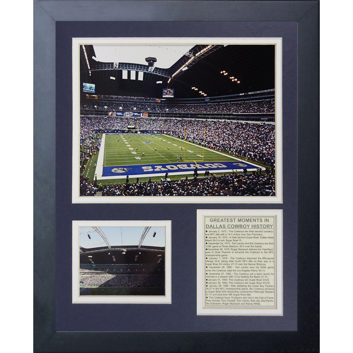 Legends never die dallas cowboys texas stadium framed for Dallas cowboys stadium wall mural