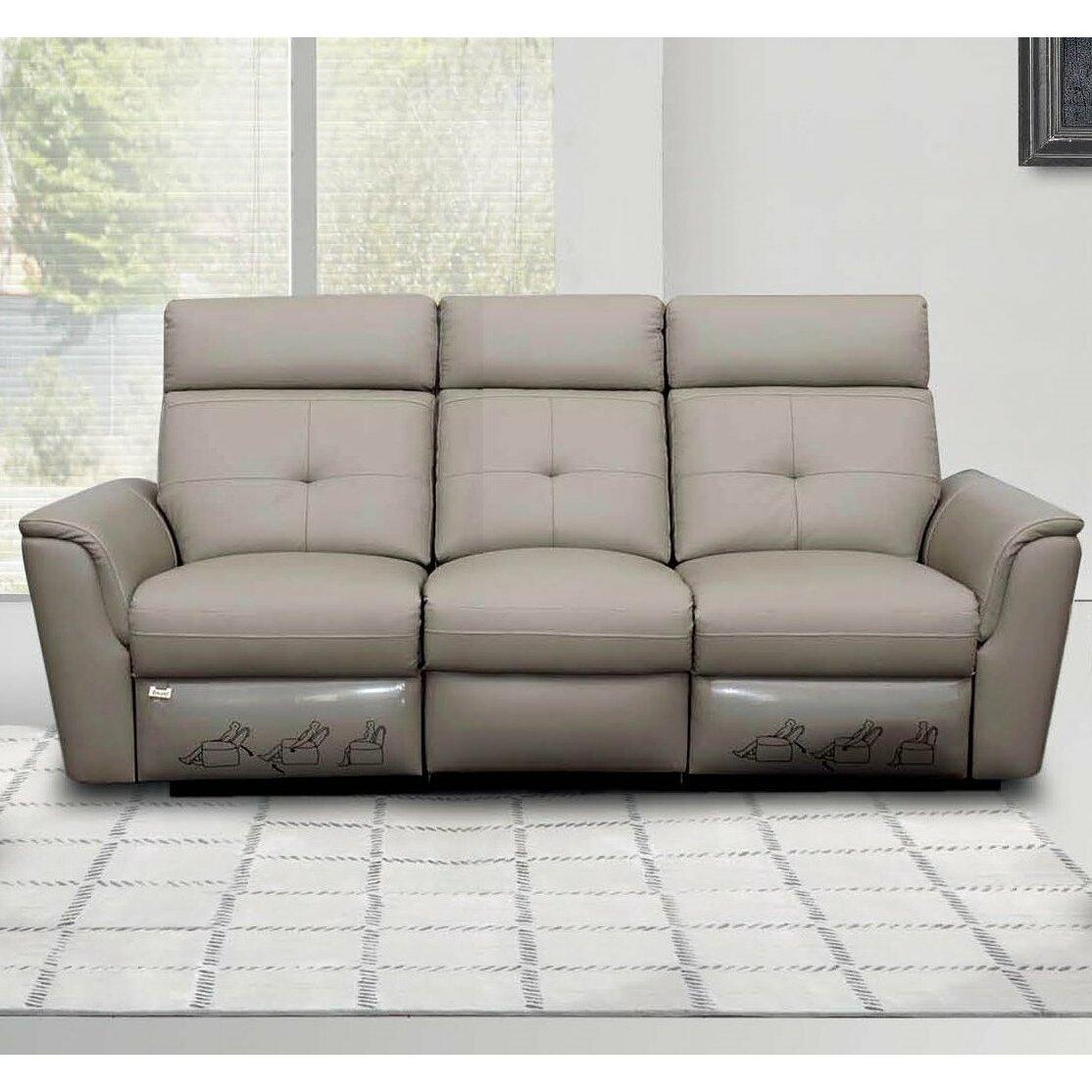 Brady Furniture Industries Noci Leather Reclining Sofa Wayfair