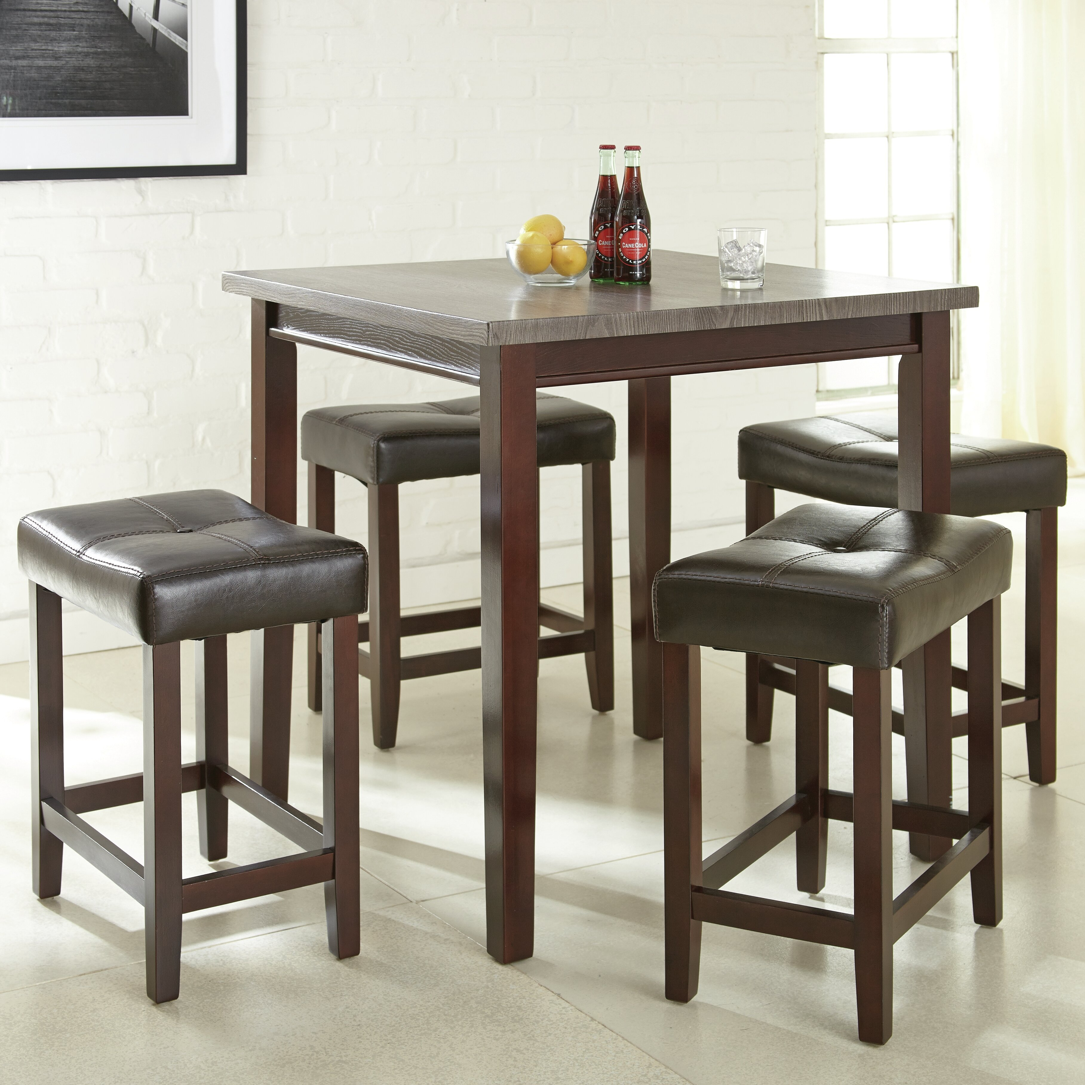 HD wallpapers 5 piece dining set counter height