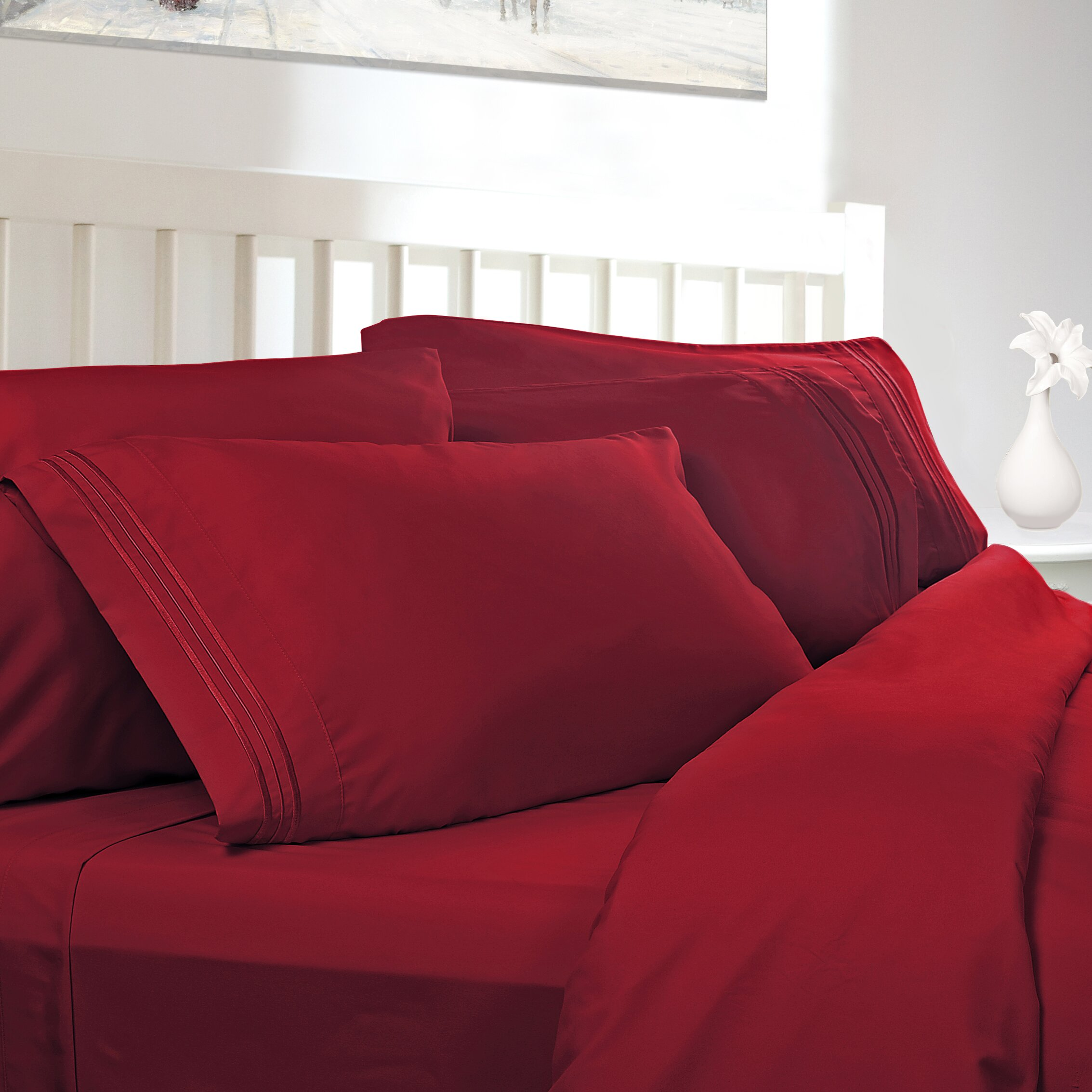 clara clark grand 1800 thread count sheet set reviews wayfair. Black Bedroom Furniture Sets. Home Design Ideas