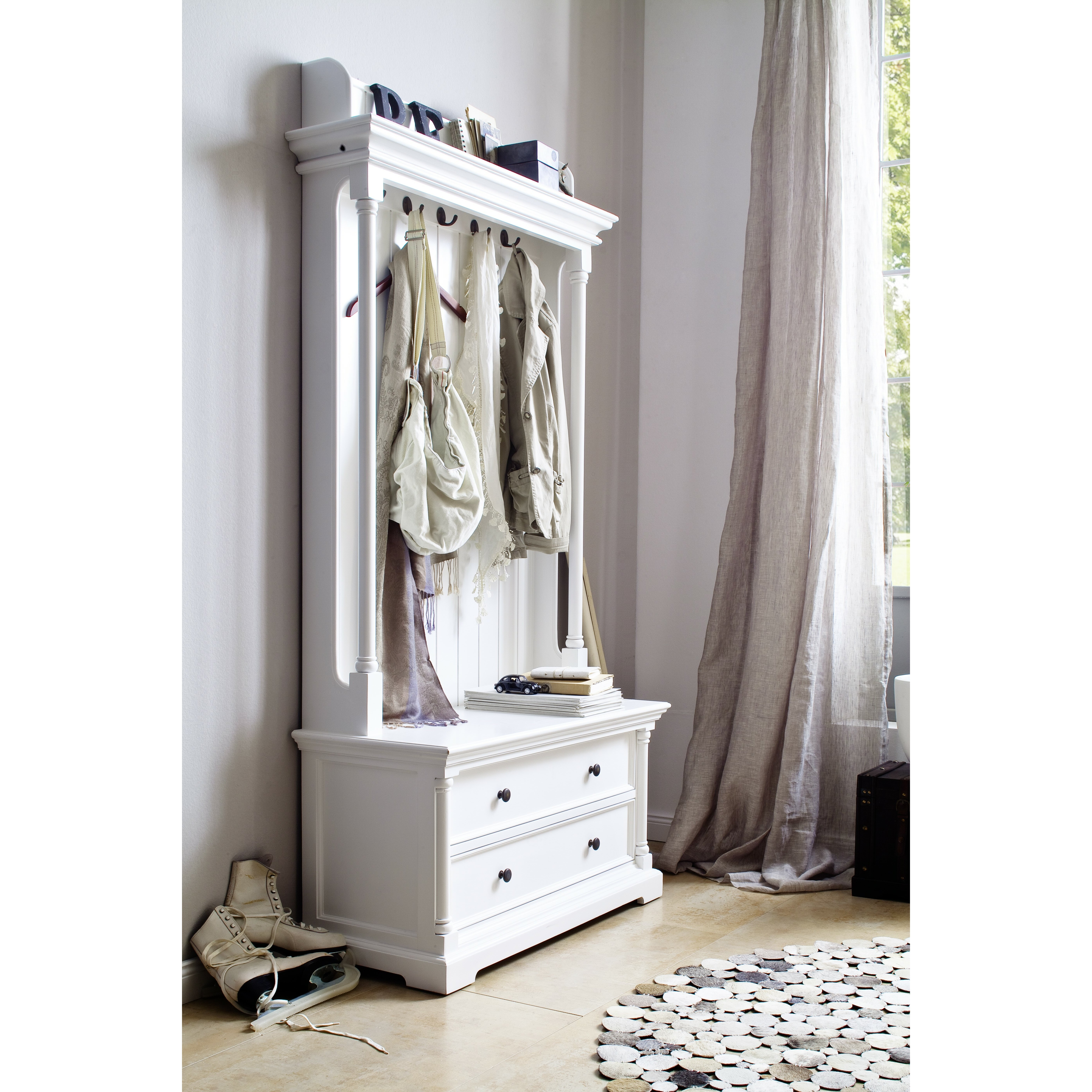 novasolo provence entryway hall tree reviews wayfair. Black Bedroom Furniture Sets. Home Design Ideas