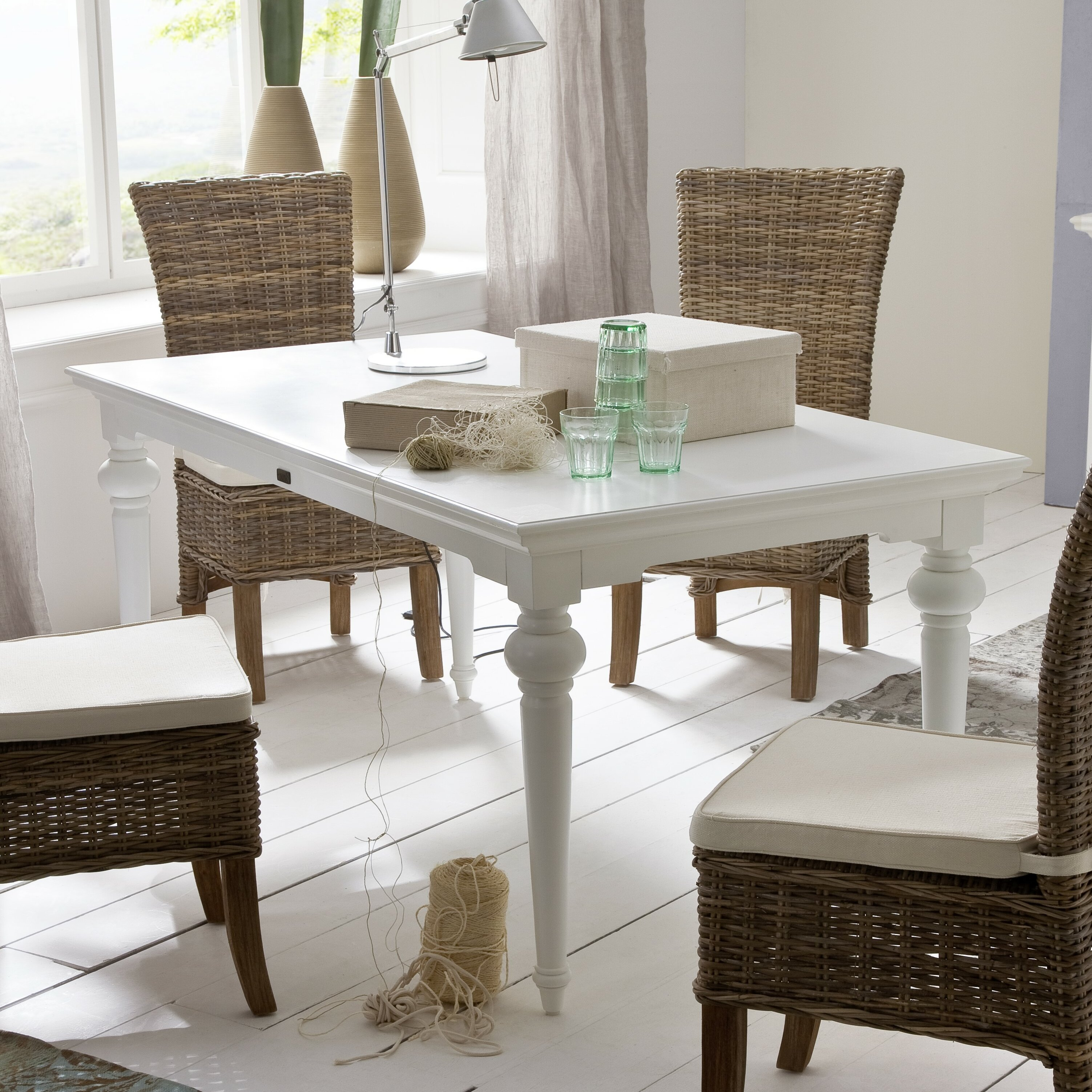 novasolo provence dining table reviews wayfair. Black Bedroom Furniture Sets. Home Design Ideas
