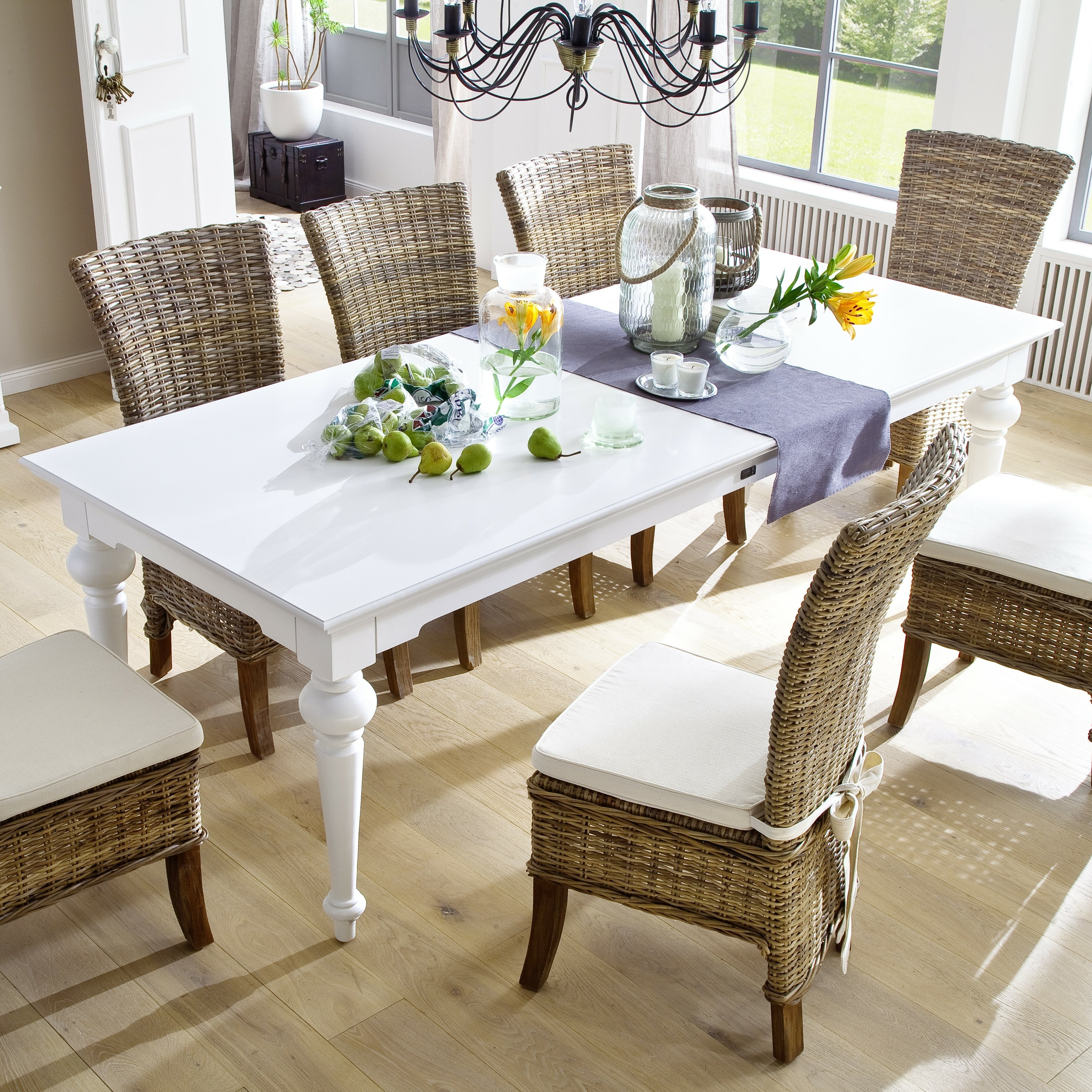 novasolo provence 94 dining table reviews wayfair. Black Bedroom Furniture Sets. Home Design Ideas