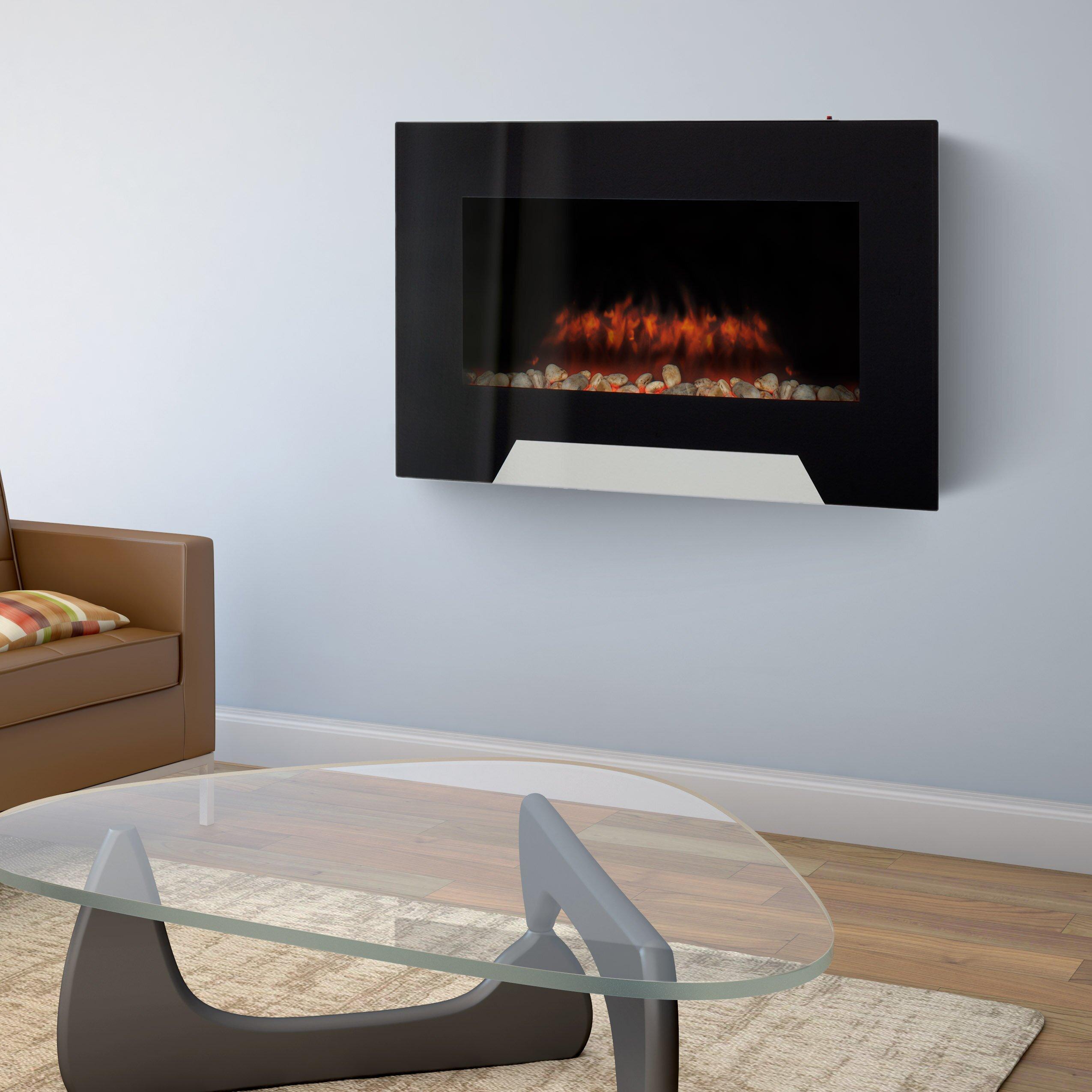 Corliving Wall Mount Electric Fireplace Reviews Wayfair