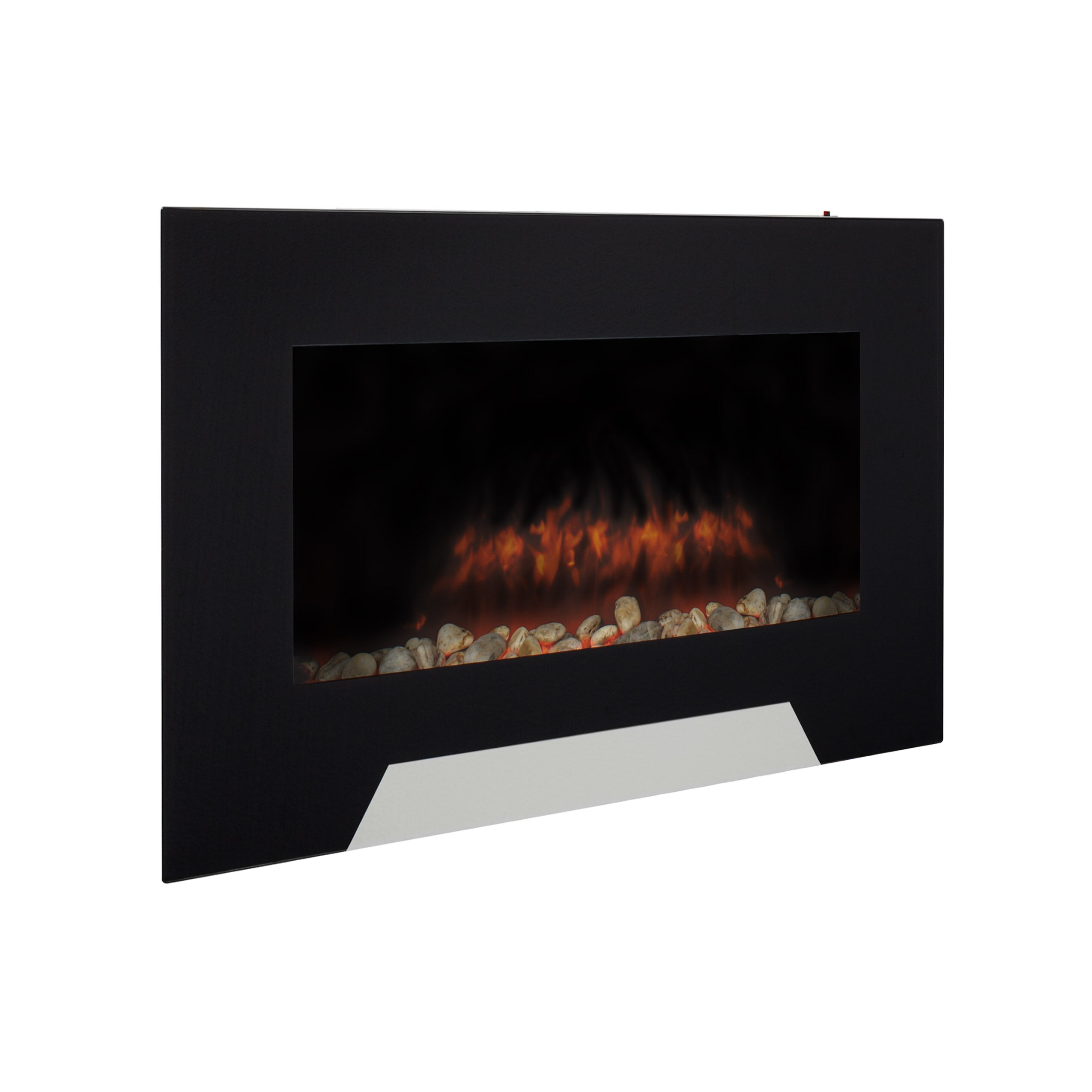 Corliving wall mount electric fireplace reviews wayfair for 24 wall mount electric fireplace