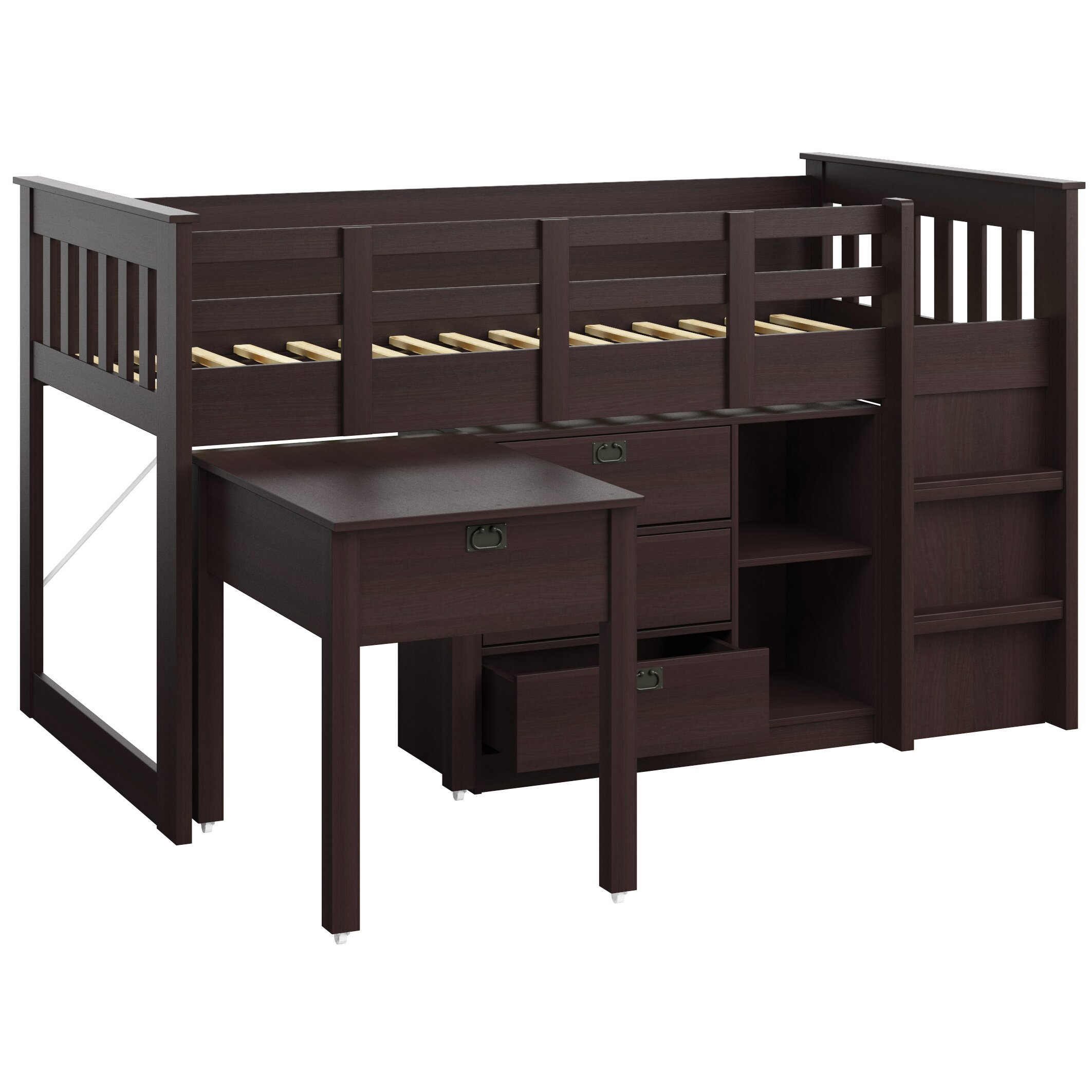 Corliving Madison Twin Low Loft Bed With Storage Reviews