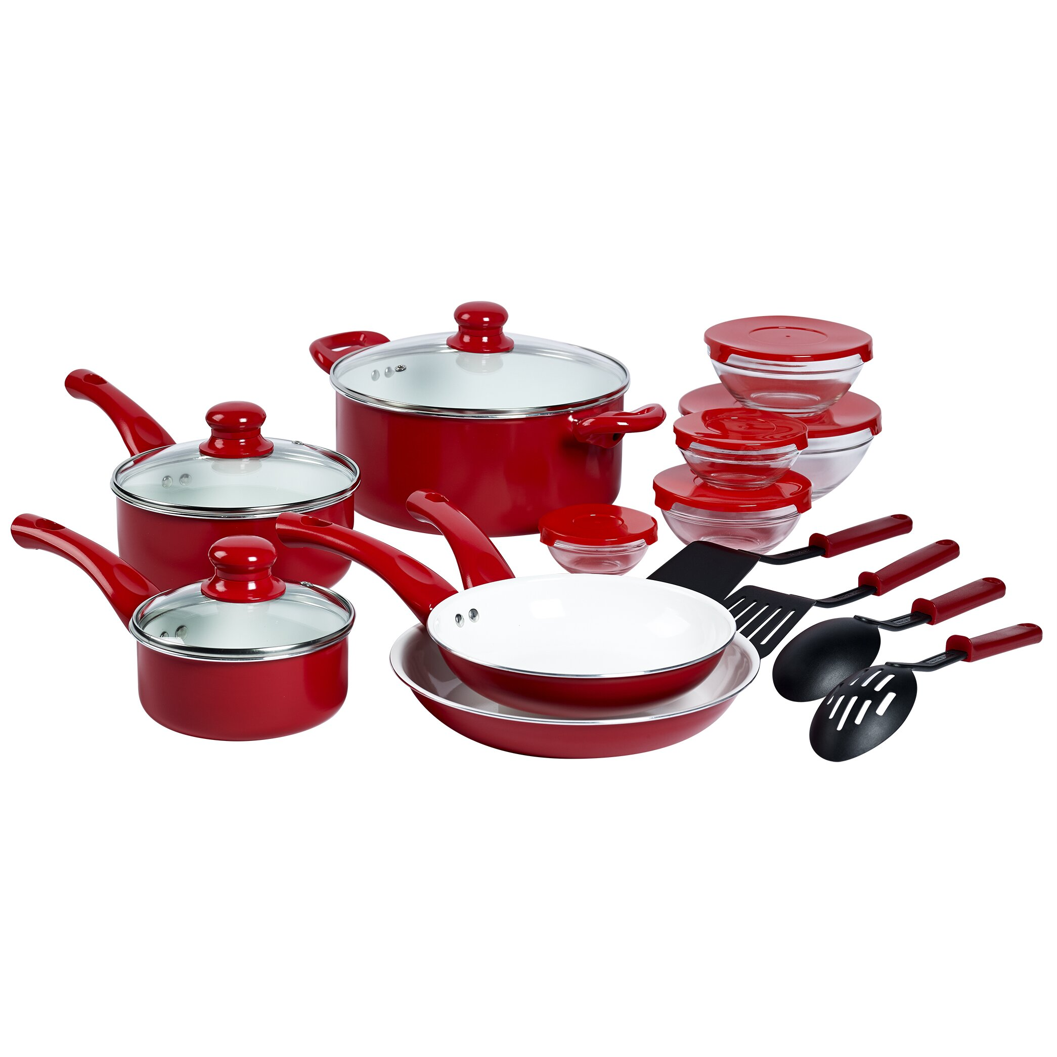 Basic Essentials Aluminum 17 Piece Cookware Set Reviews
