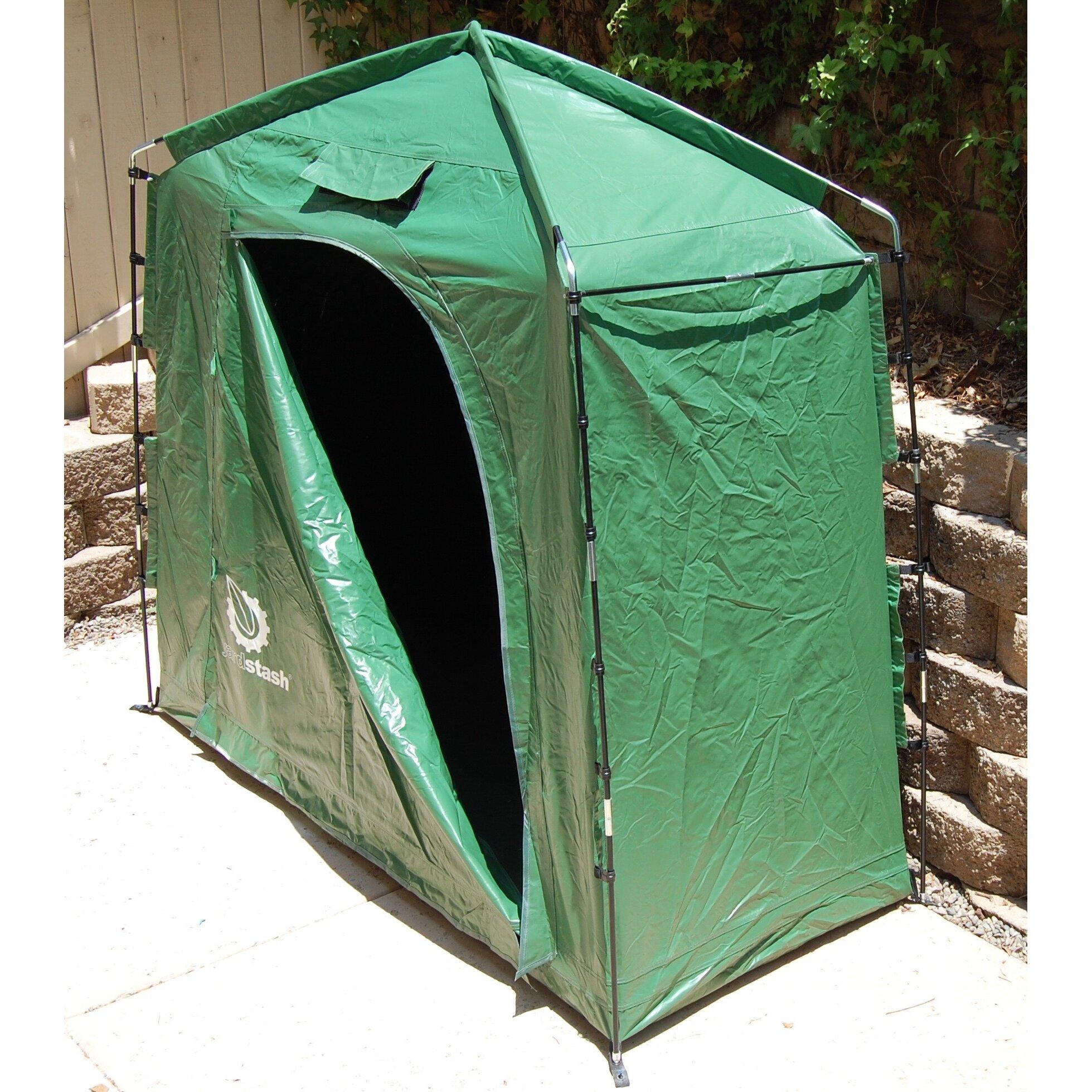 Yardstash solutions the yardstash iv 6 ft w x 3 ft d for Portable outside storage sheds