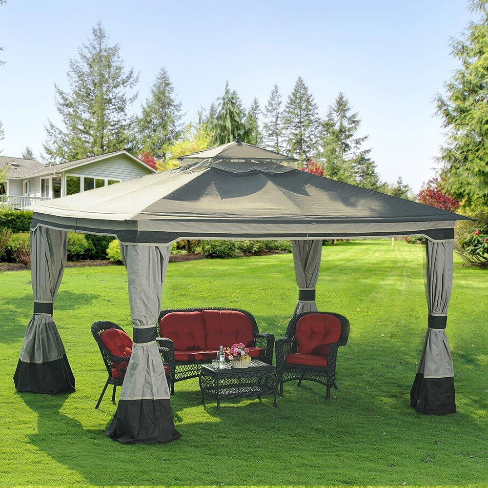 10 Ft 10 Ft Canopy : Sunjoy graypointe ft w d gazebo reviews