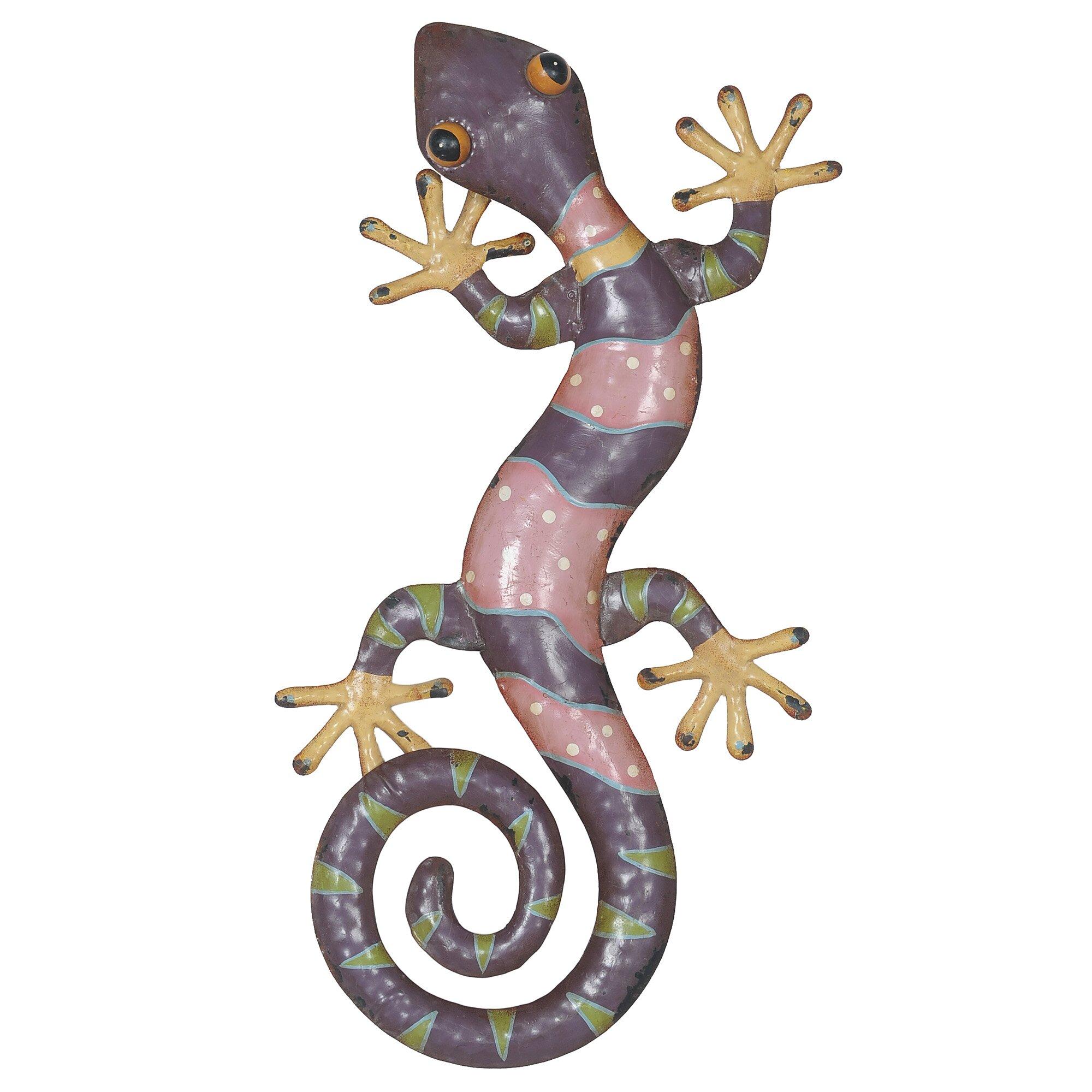 Sunjoy gecko outdoor wall decor reviews wayfair for Gecko wall art
