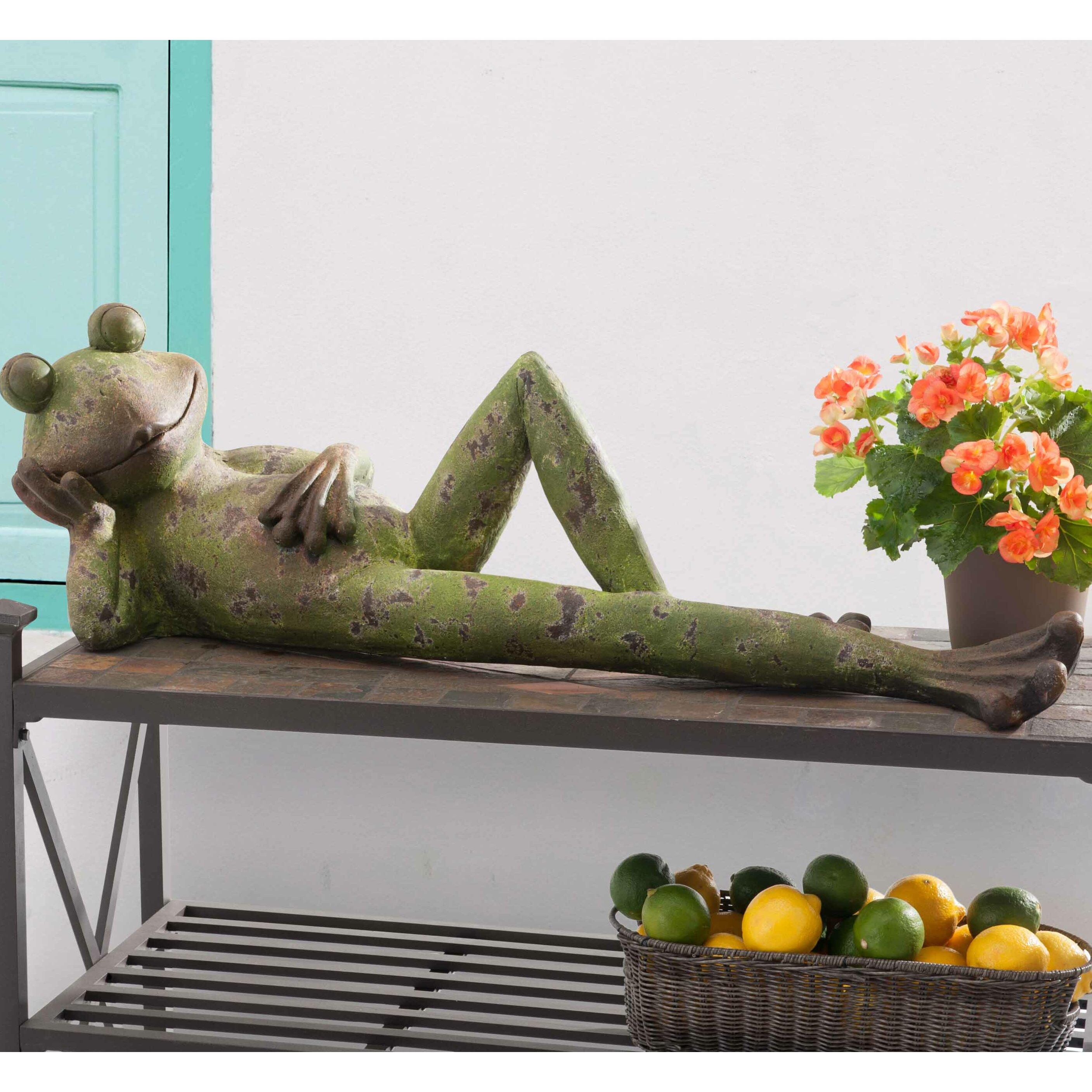 Wayfair Garden Statues: Sunjoy Laid Back Frog Garden Statue
