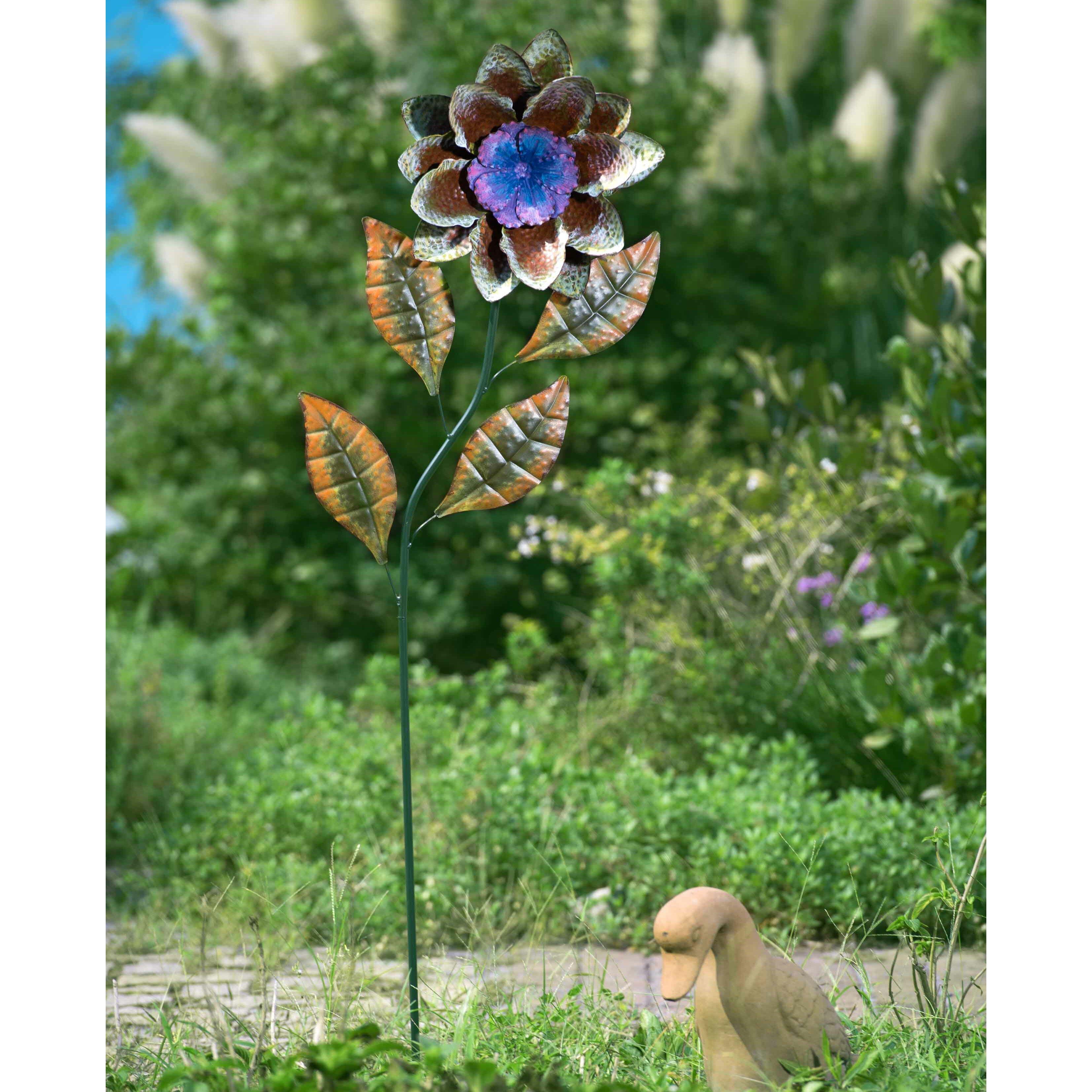 Sunjoy Metal Flower Garden Stake Amp Reviews Wayfair