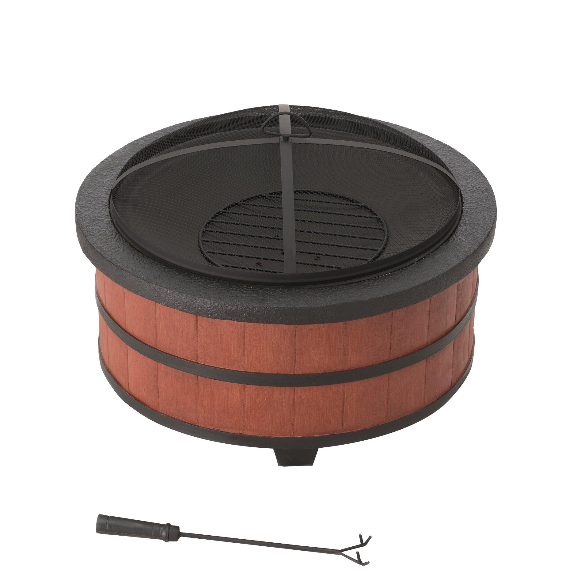 #8E4C3D Sunjoy Alta Steel Fire Pit Wayfair Brand New 5631 Sunjoy Patio  Heater Images With