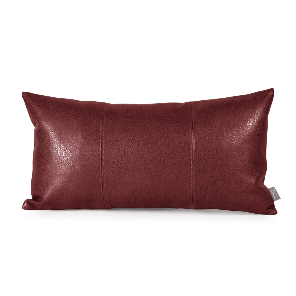 Throw Pillows Faux Leather : Howard Elliott Kidney Faux Leather Throw Pillow & Reviews Wayfair