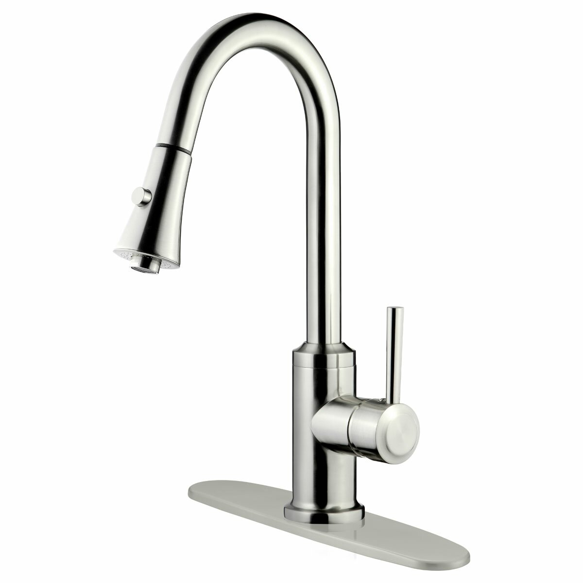 kitchen pull down faucet lesscare single handle pull down kitchen faucet reviews wayfair 6258