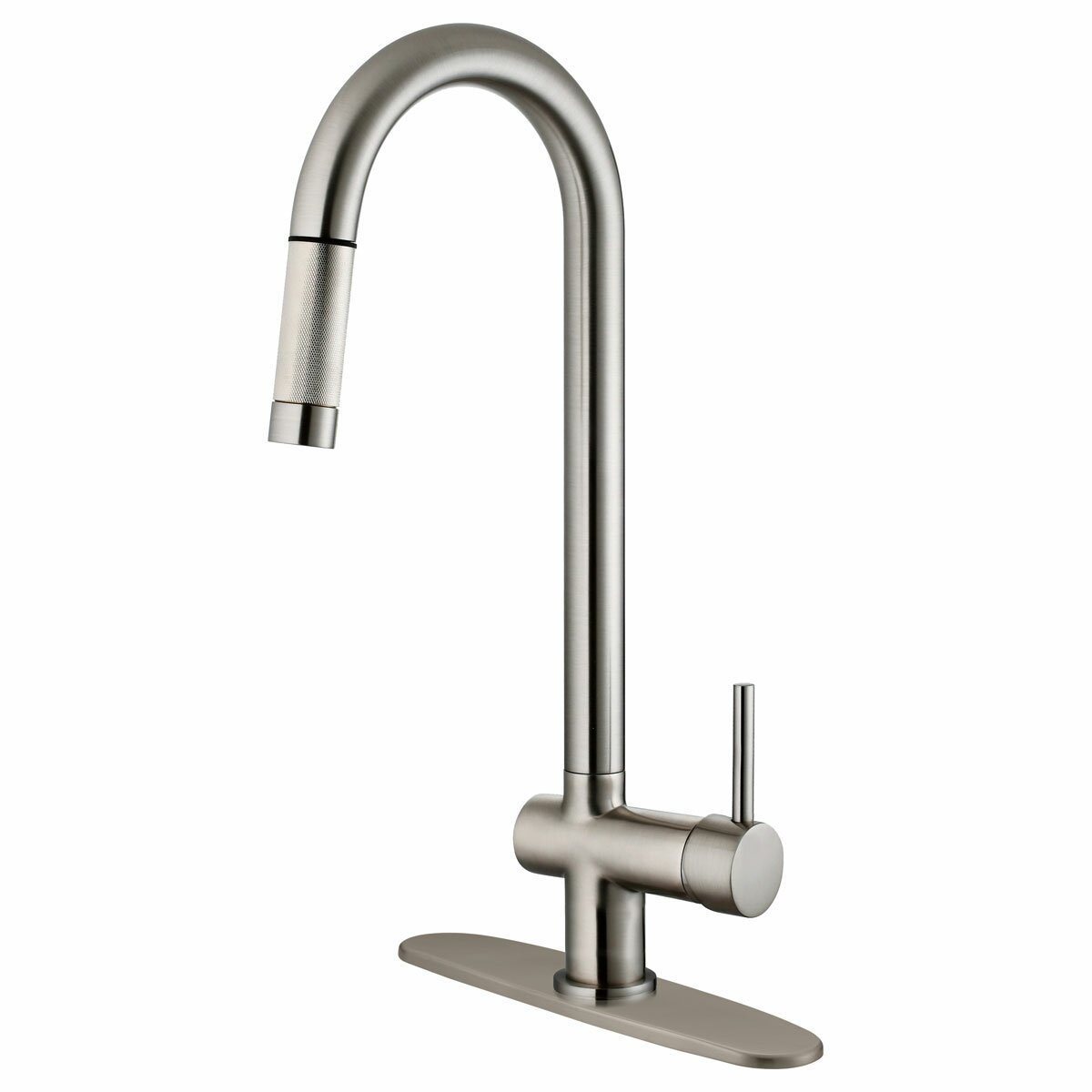 single handle pull down kitchen faucet lesscare single handle pull kitchen faucet amp reviews 27459