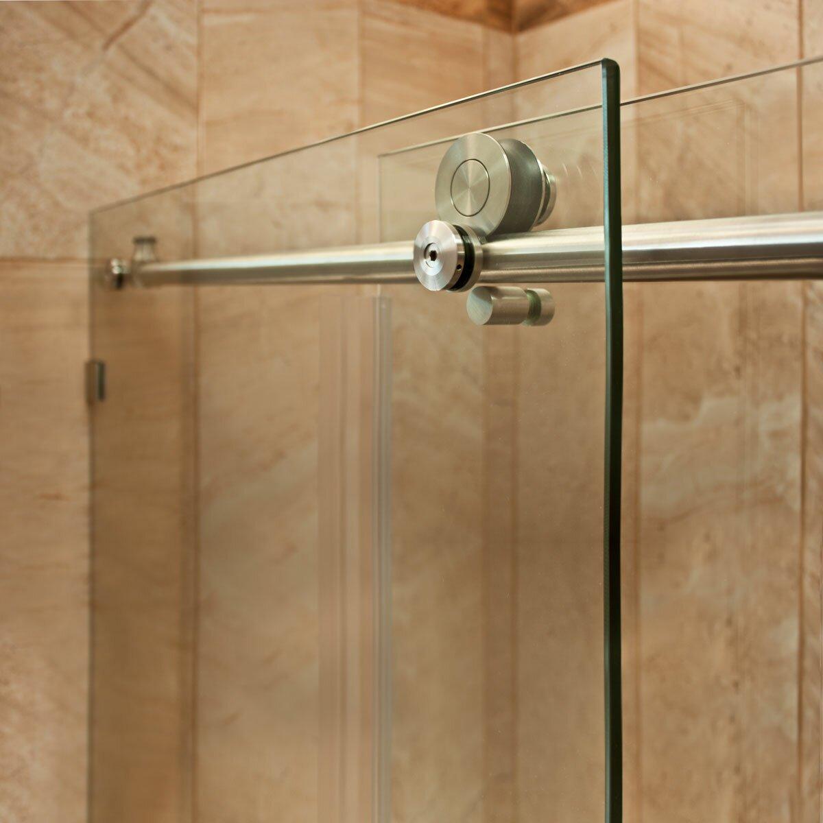 Lesscare ultra c 62 x 60 sliding glass bath tub door for Sliding glass doors tub