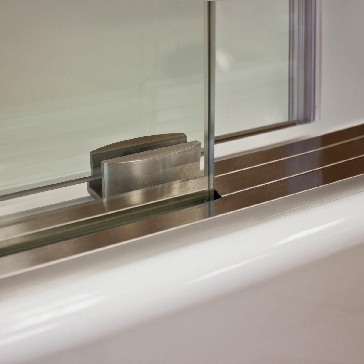 Lesscare ultra d 48 x 36 x 79 sliding high glass shower for Window 48 x 36
