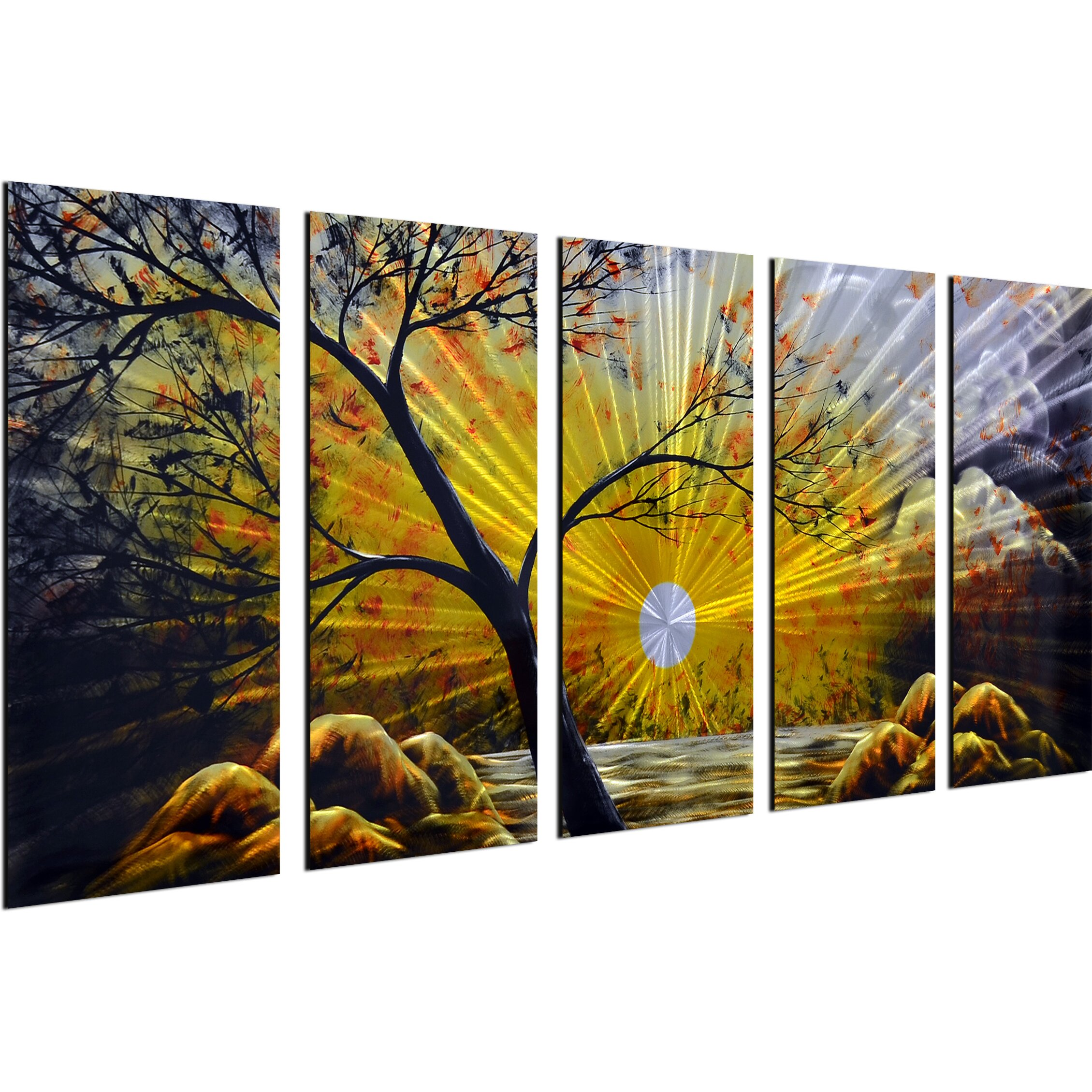 Omax decor 5 piece mother natures finest wall d cor set for 5 piece mural