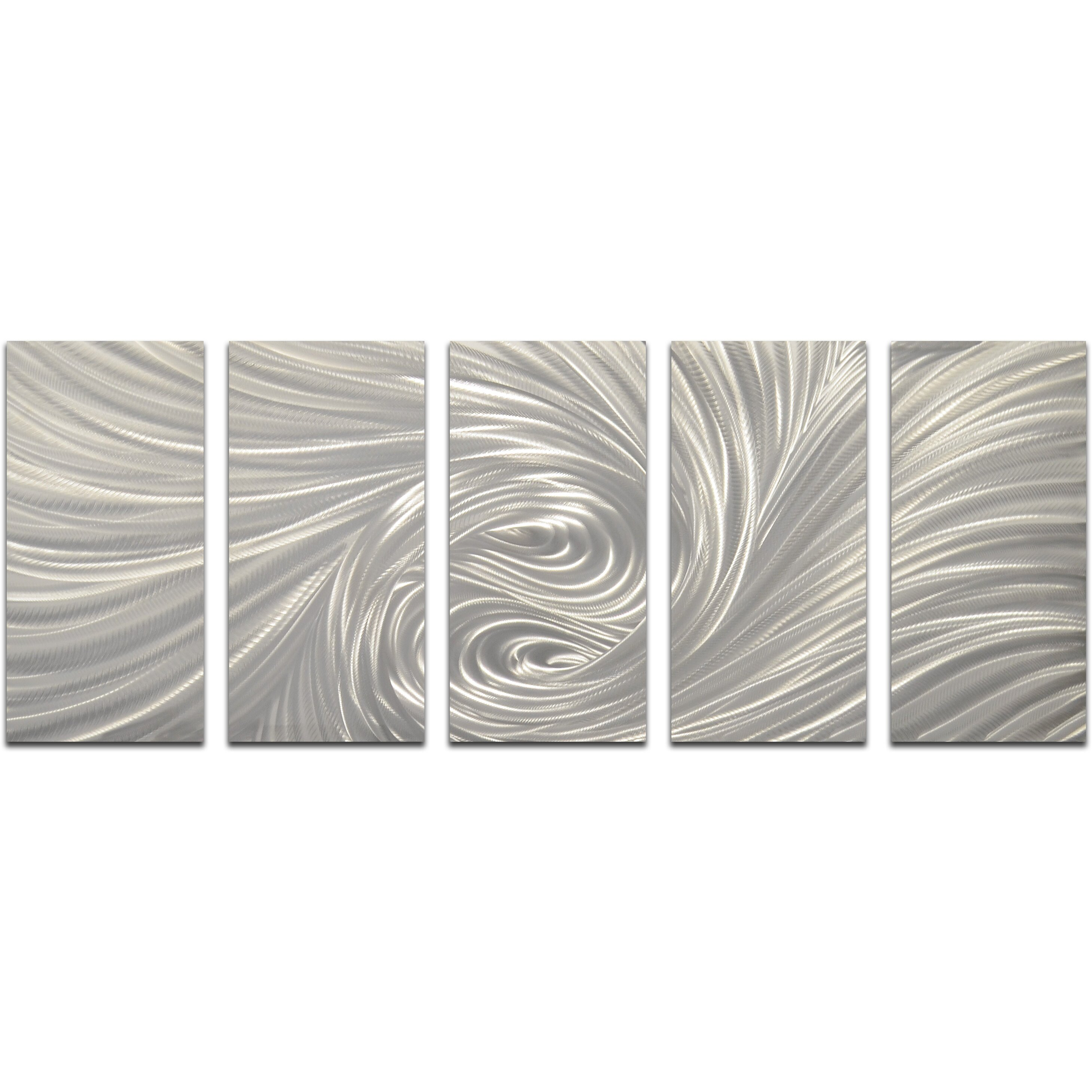 Wall Decor Set Of 5 : Omax decor piece velvety greys wall d?cor set wayfair