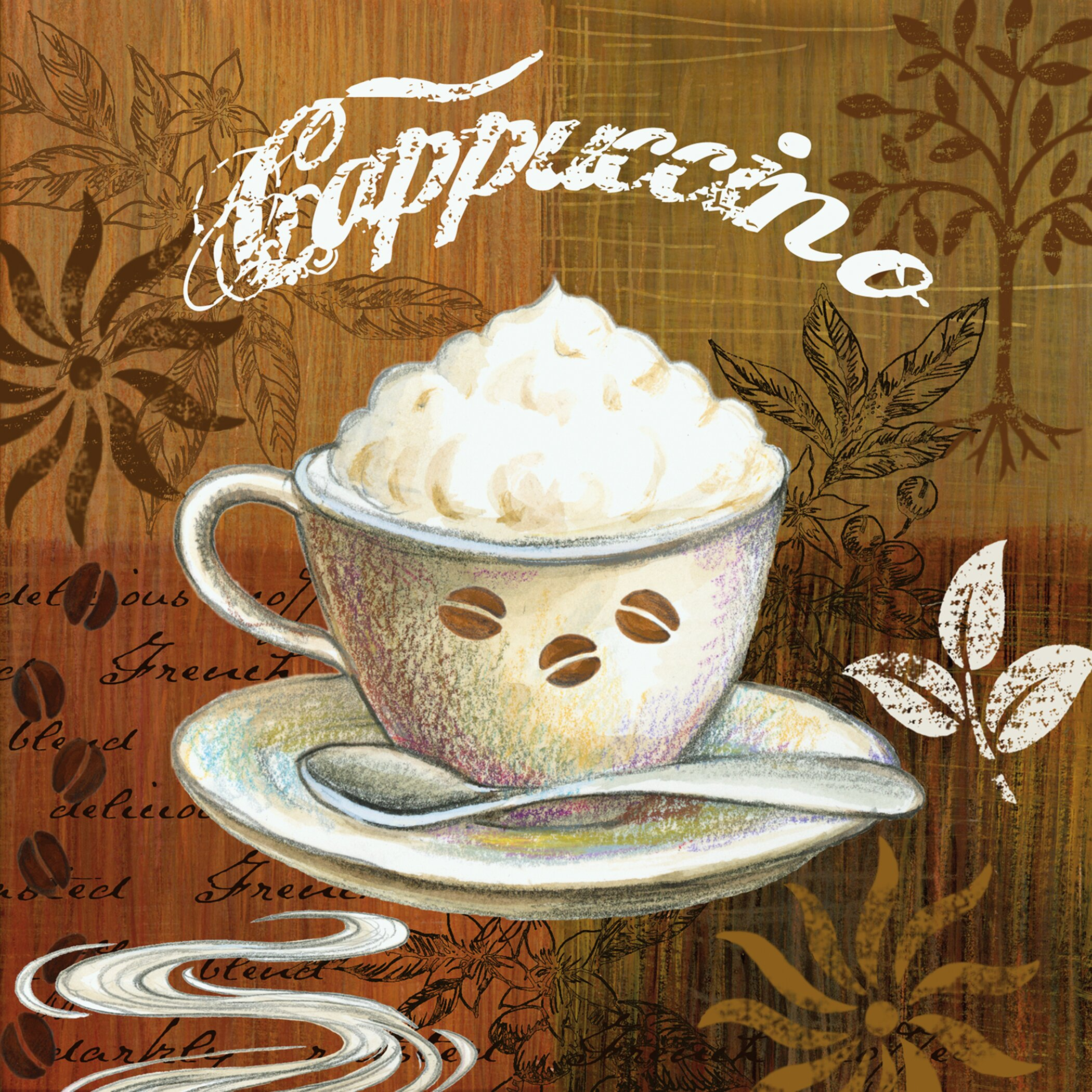 Portfolio canvas coffee break americano by elena vladykina - Azulejos vintage cocina ...