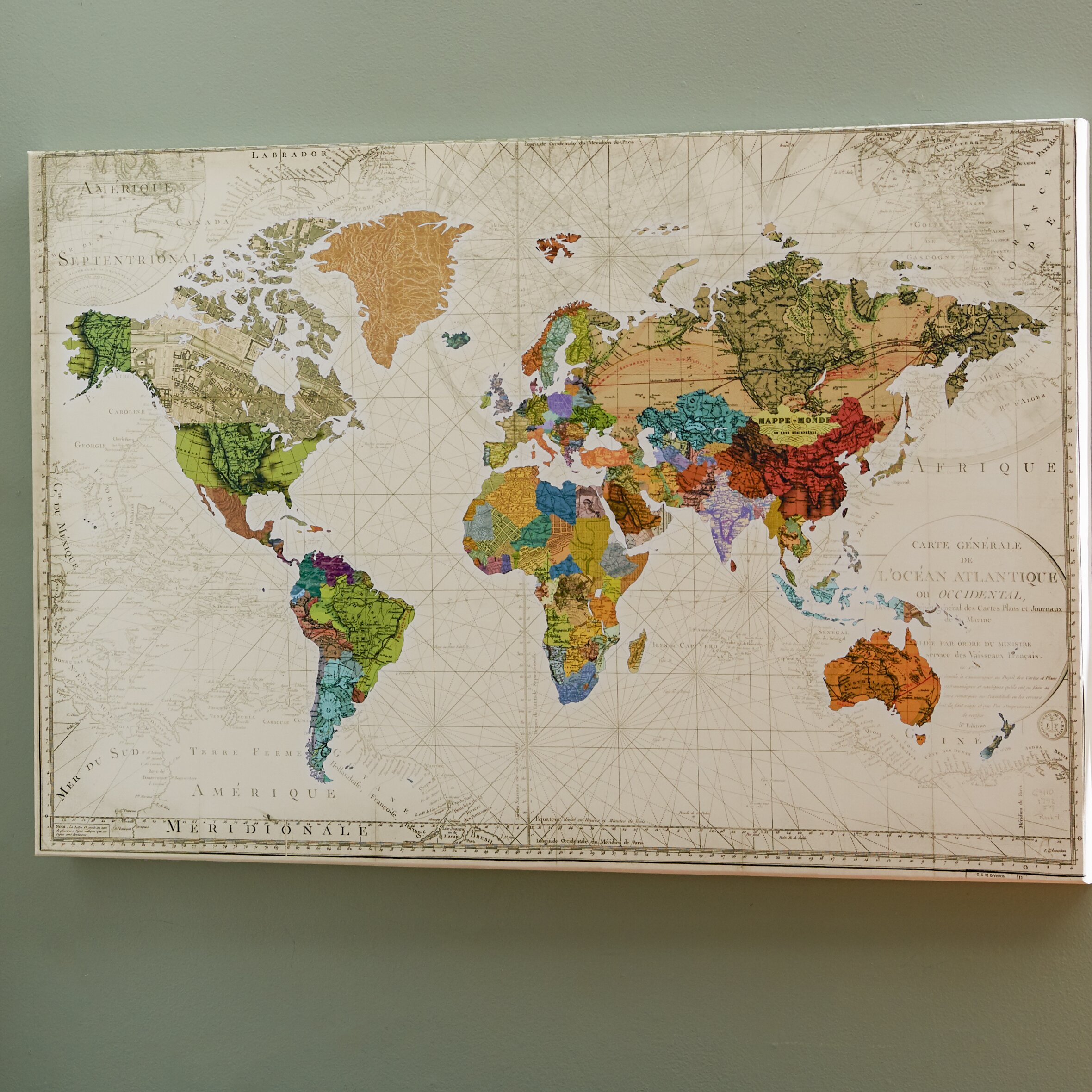 Portfolio Canvas World Map Of Maps By Studio Voltaire