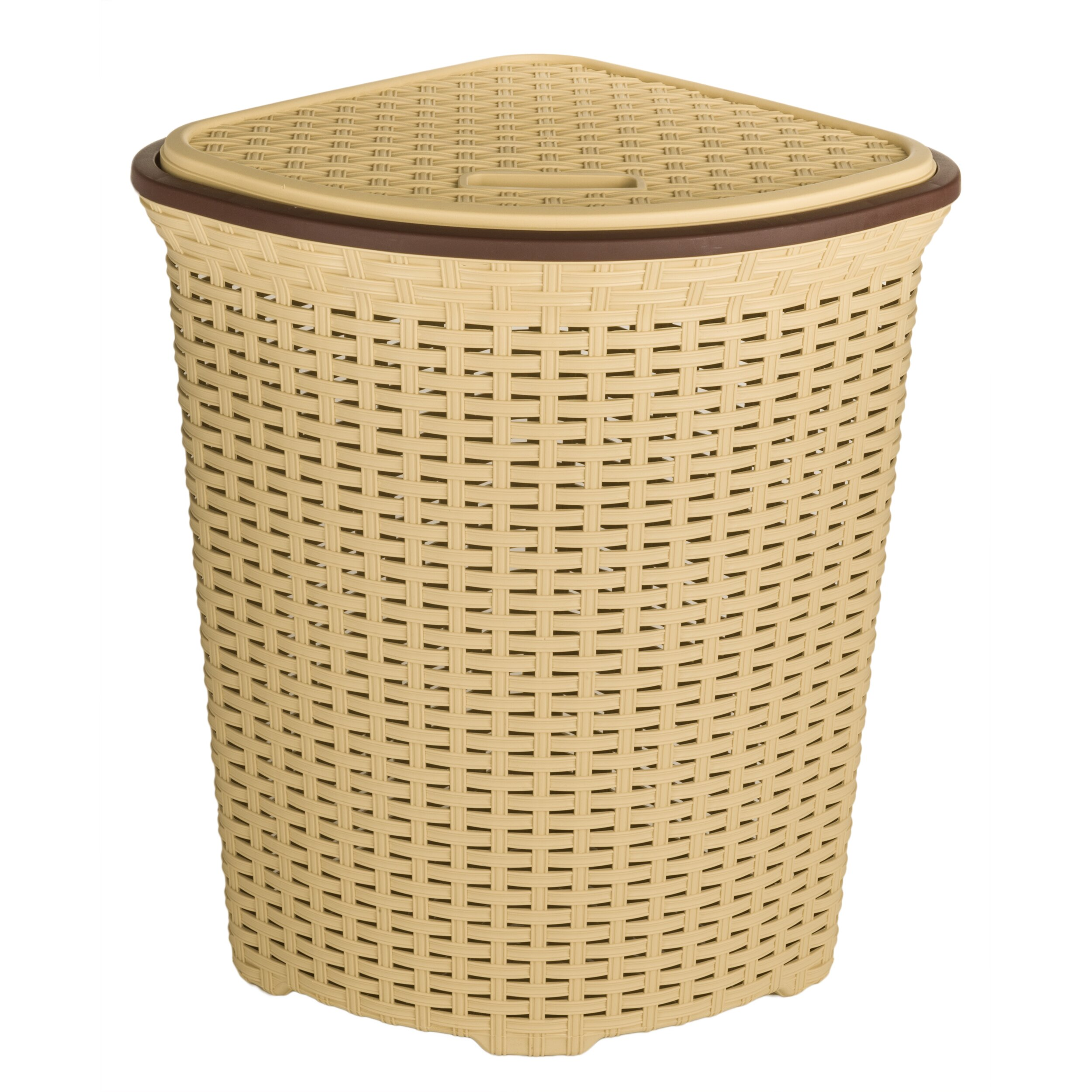 Superior performance superio brand wicker style corner laundry hamper reviews wayfair - Rattan clothes hamper ...
