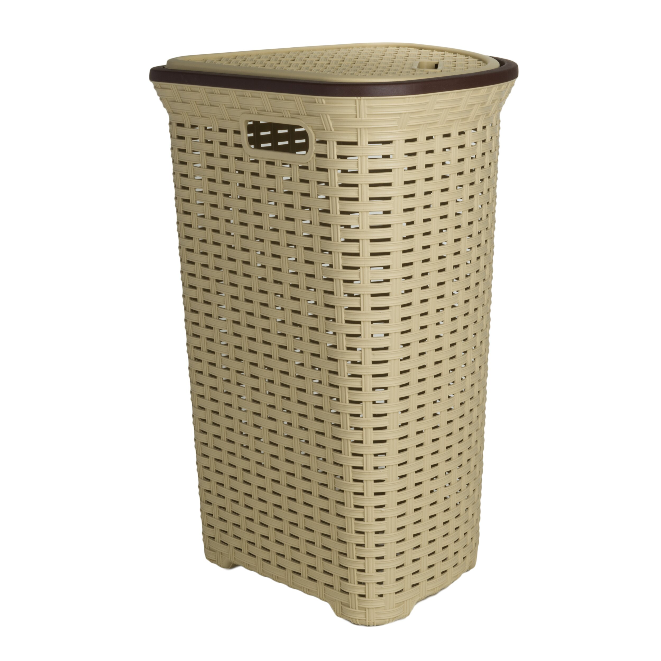 Superior performance superio brand wicker style corner laundry hamper reviews wayfair - Wicker clothes hamper ...